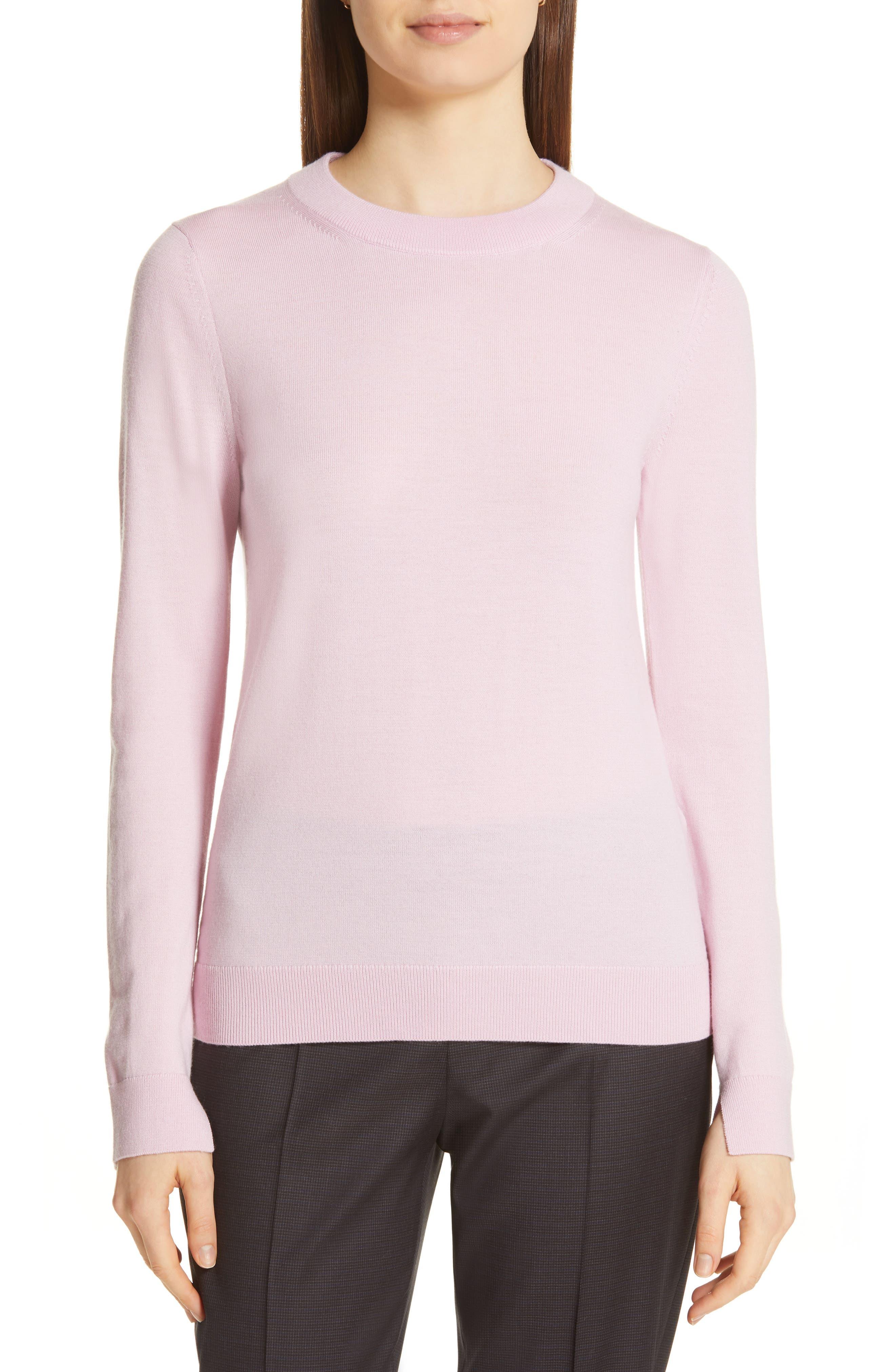 Boss Fegan Merino Wool Knit Sweater, Pink
