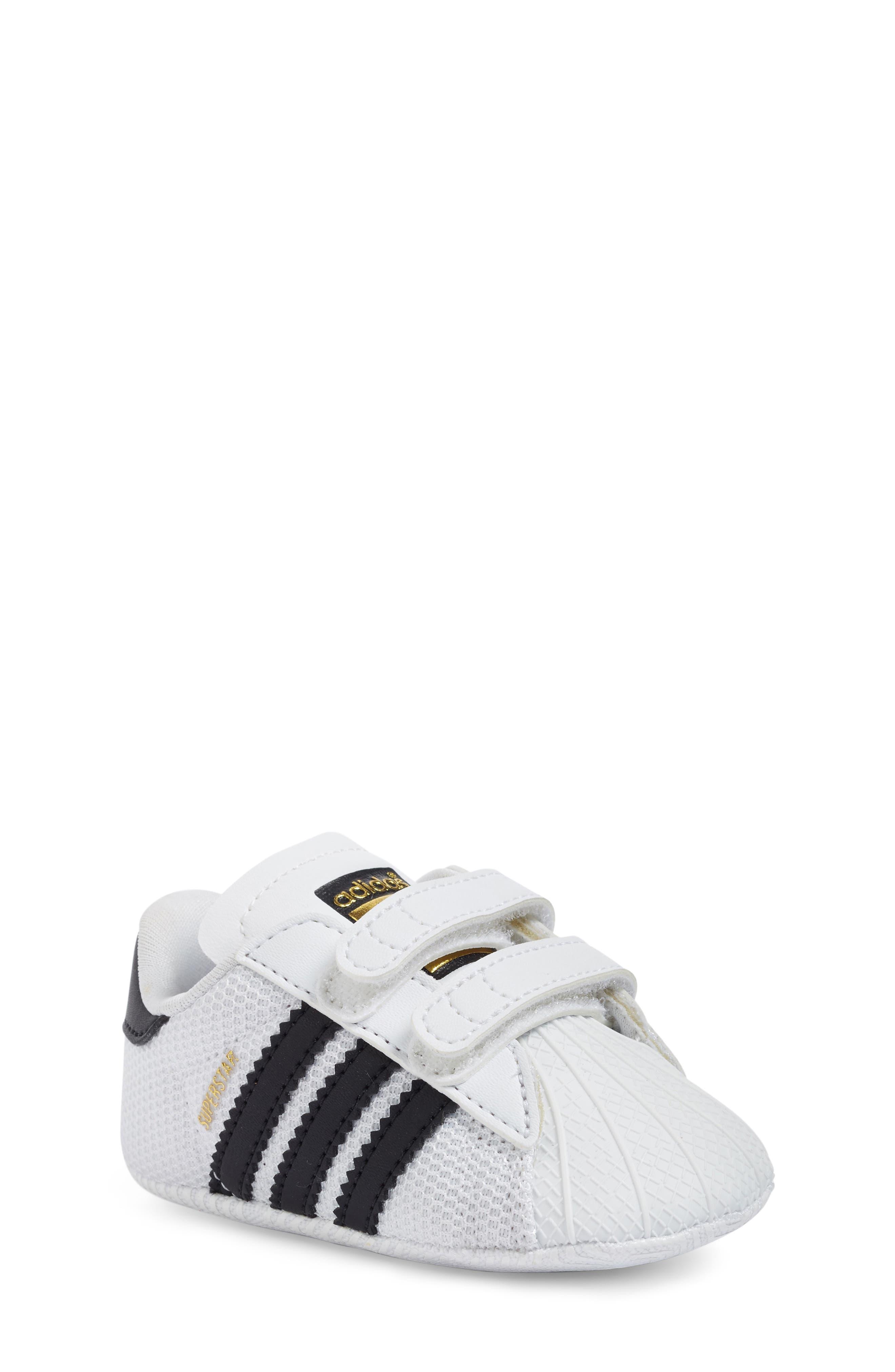 ADIDAS, Superstar Sneaker, Main thumbnail 1, color, WHITE/ BLACK