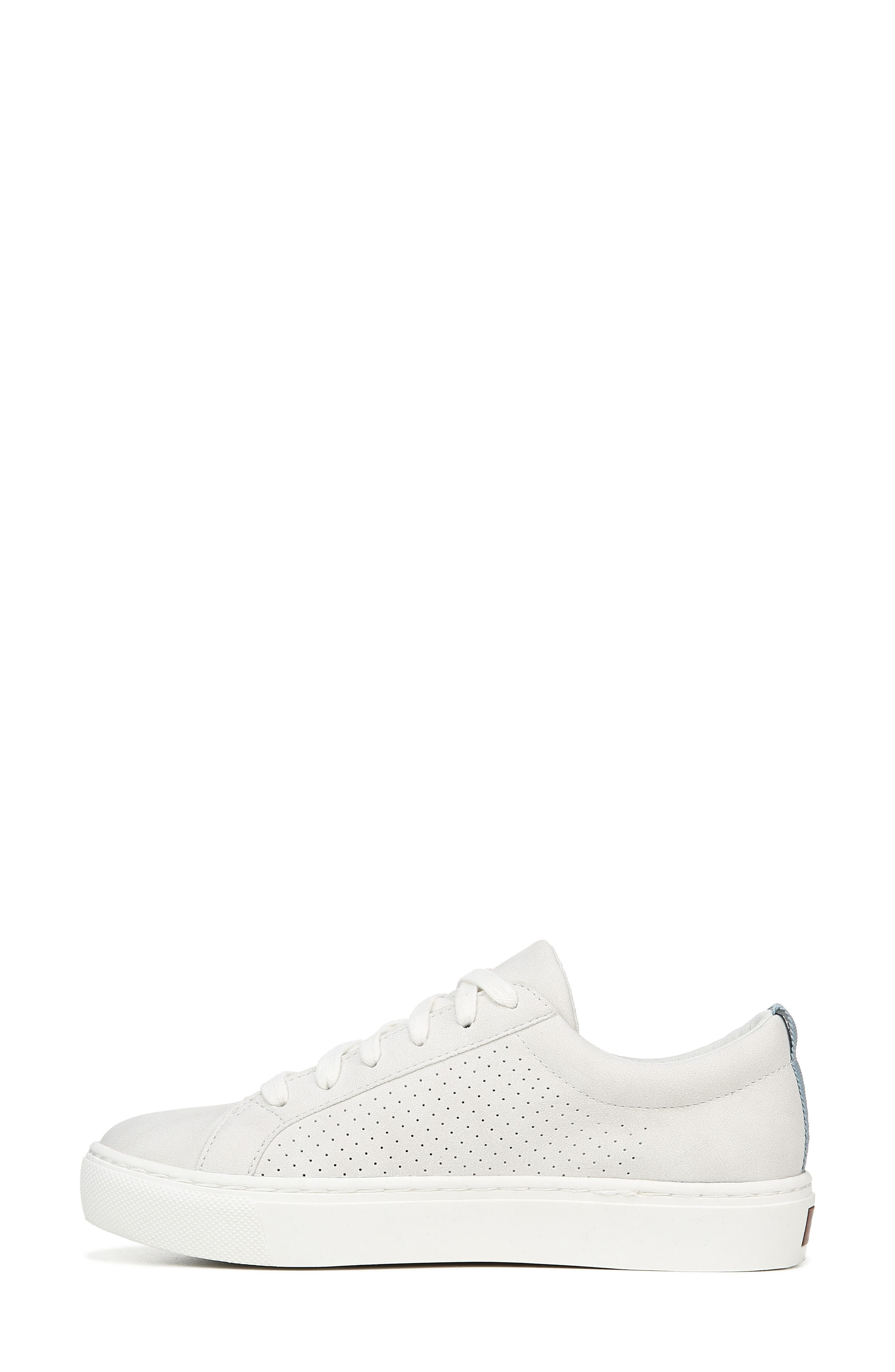 DR. SCHOLL'S, No Bad Vibes Sneaker, Alternate thumbnail 8, color, WHITE FAUX LEATHER