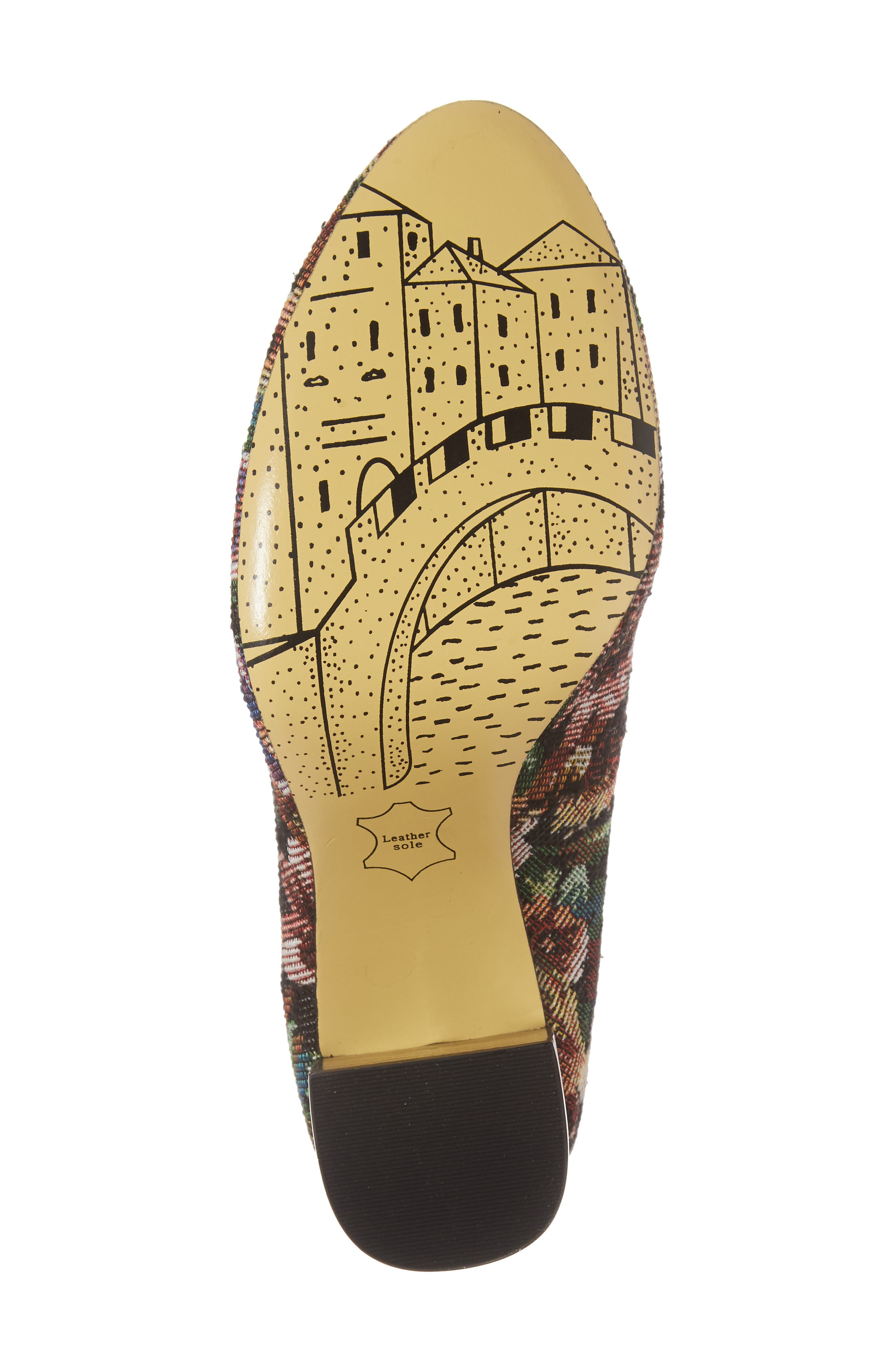BELLA VITA, 'Nara' Block Heel Pump, Alternate thumbnail 6, color, TAPESTRY FABRIC