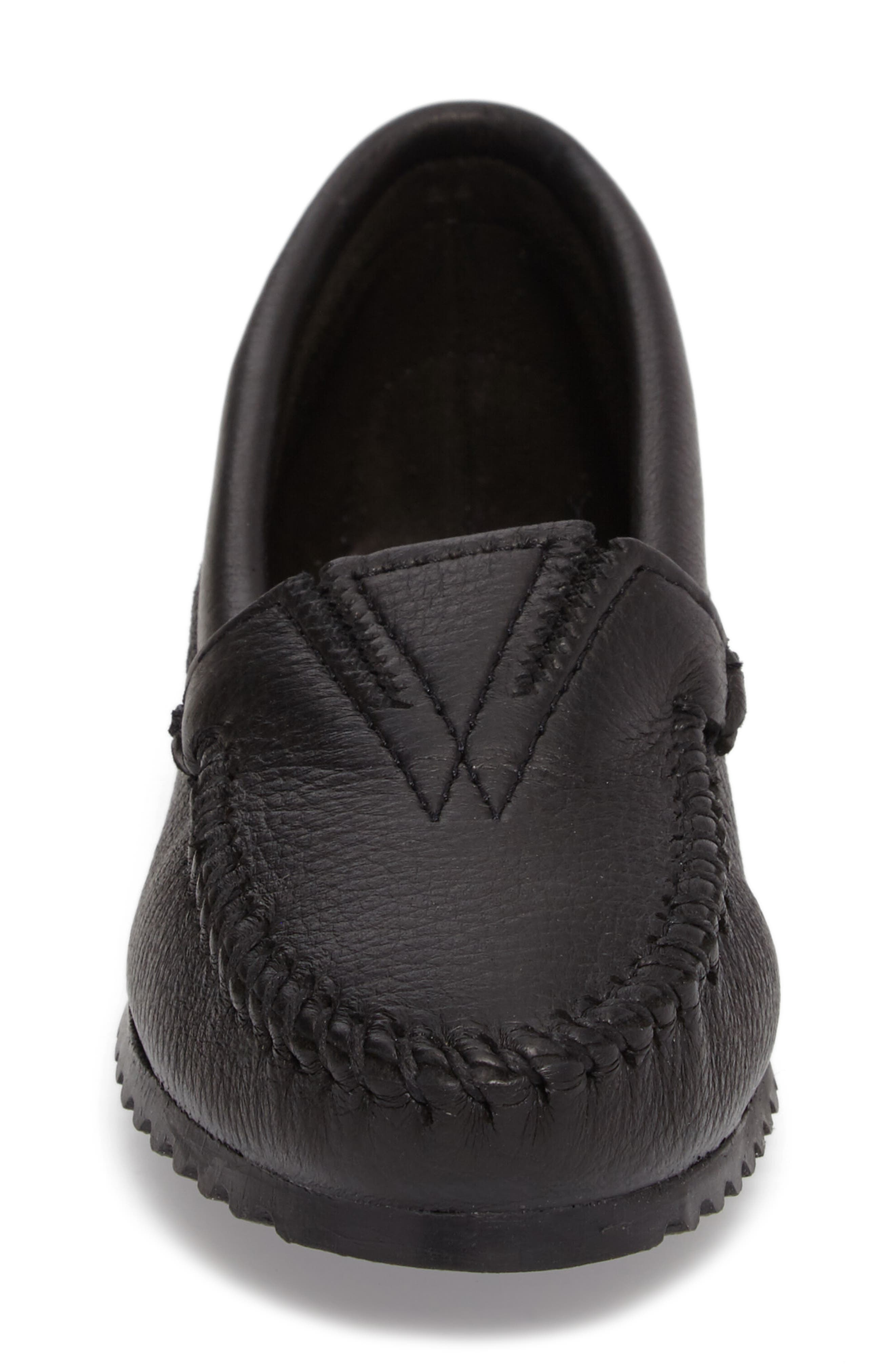 MINNETONKA, Moccasin, Alternate thumbnail 4, color, BLACK