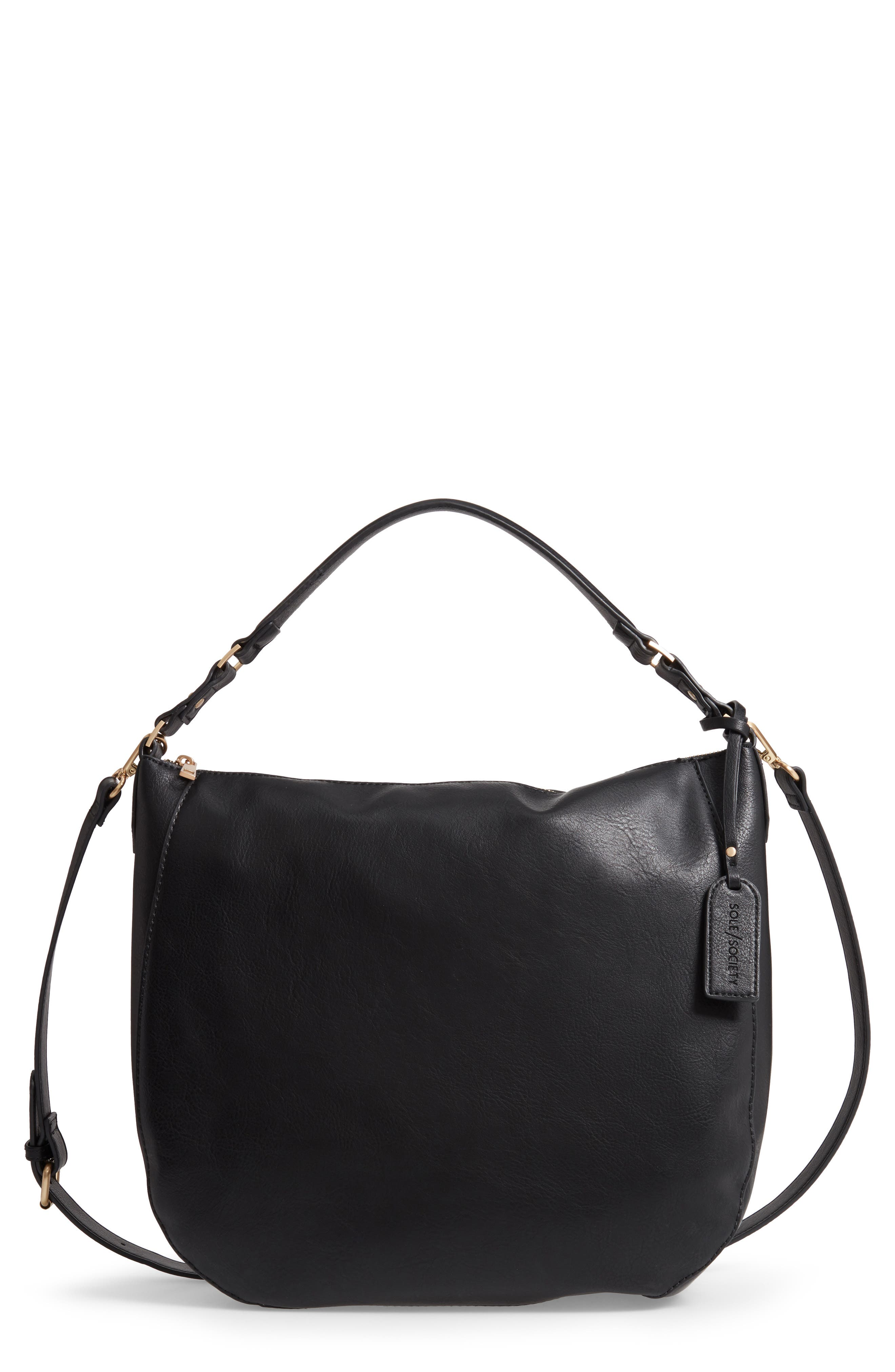 SOLE SOCIETY Marah Faux Leather Tote, Main, color, 001