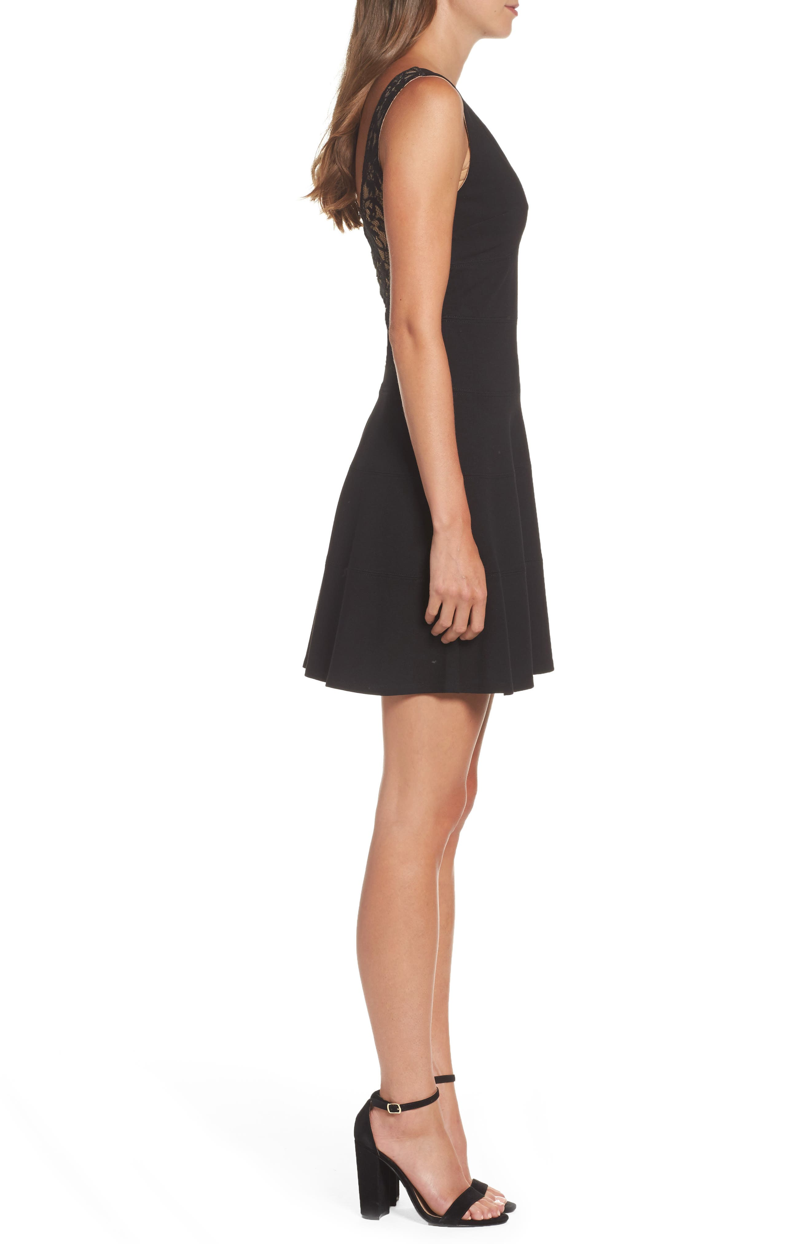ALI & JAY, Fit & Flare Dress, Alternate thumbnail 4, color, 001