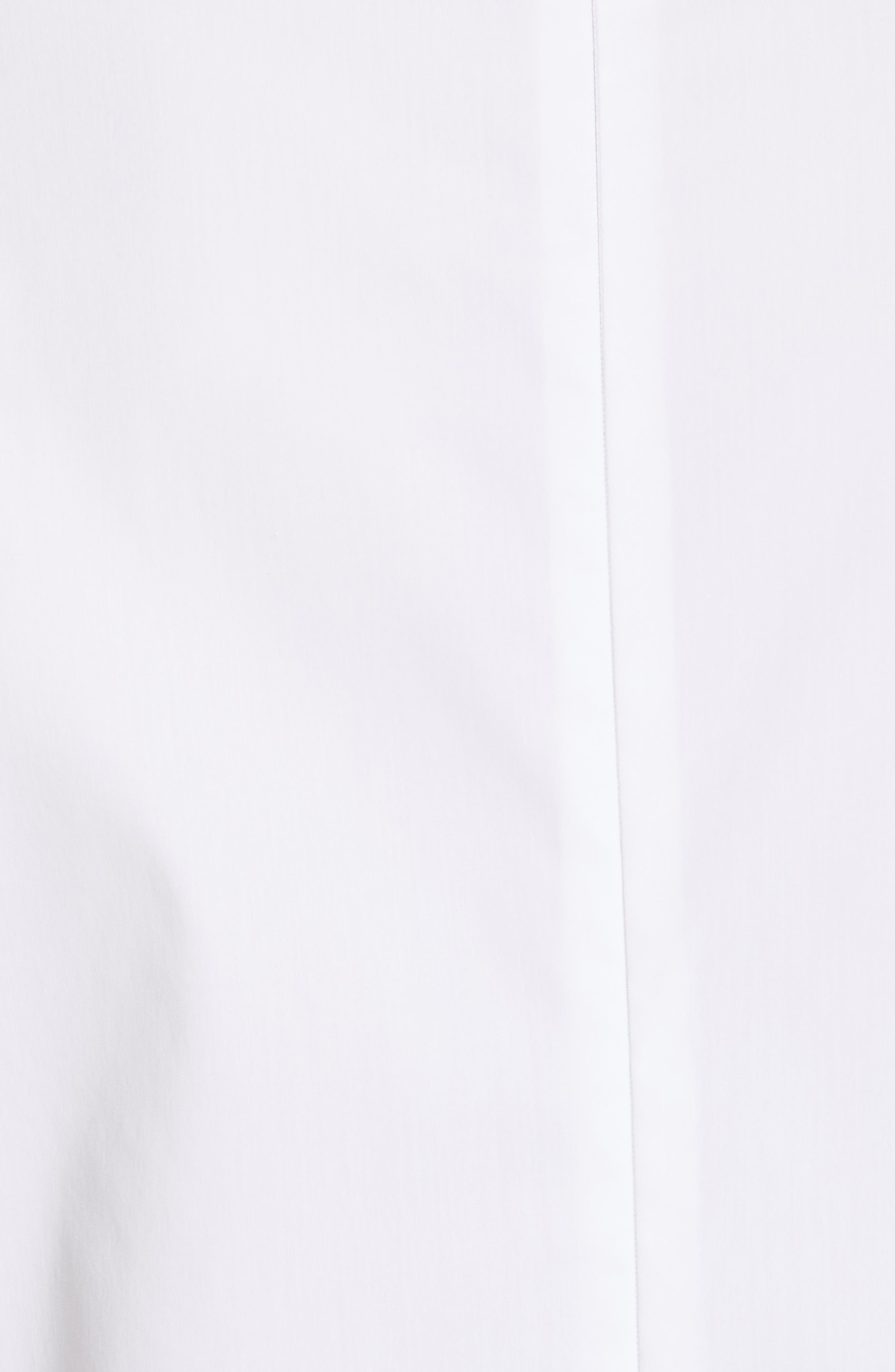 RED VALENTINO, Grommet & Crystal Ruffle Sleeve Top, Alternate thumbnail 5, color, BIANCO OTTICO