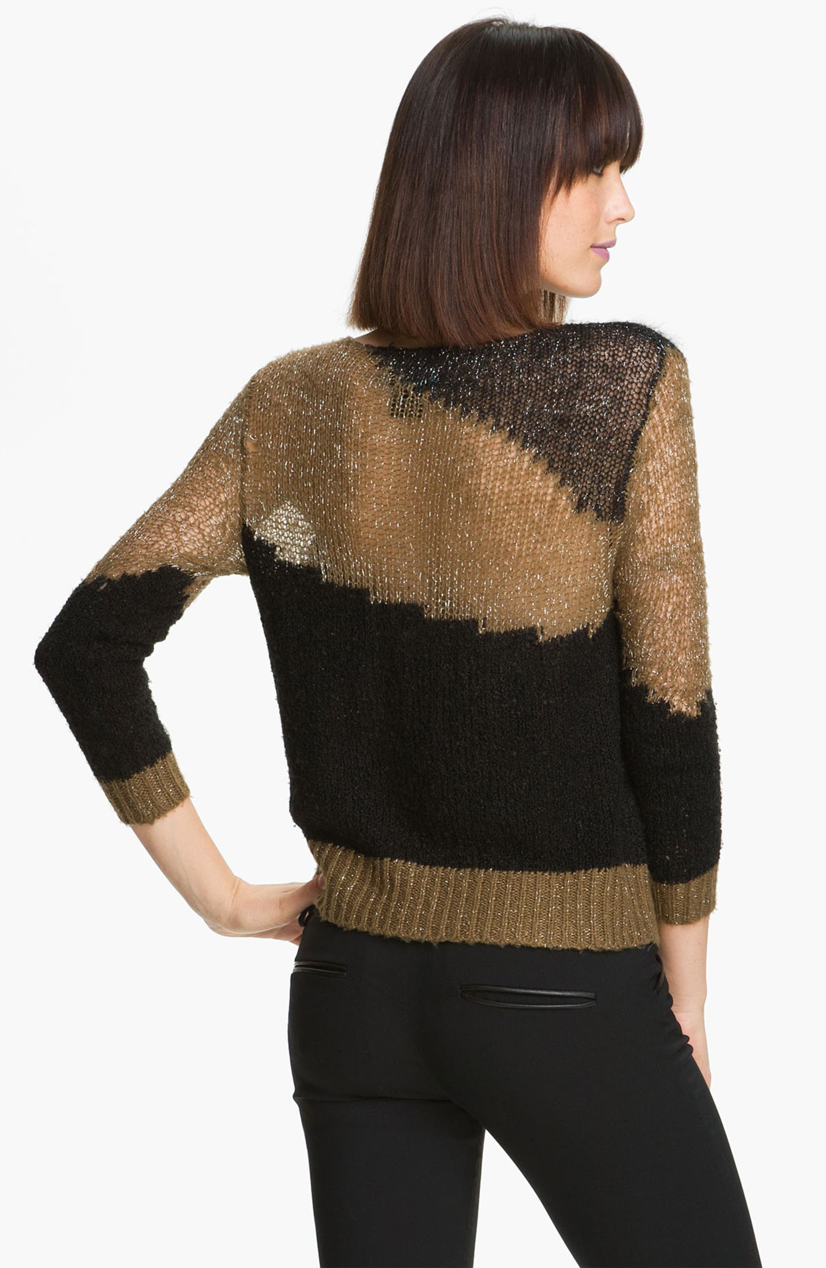 16a4ca1981d35c Alice + Olivia 'Opal' Metallic Knit Sweater | Nordstrom