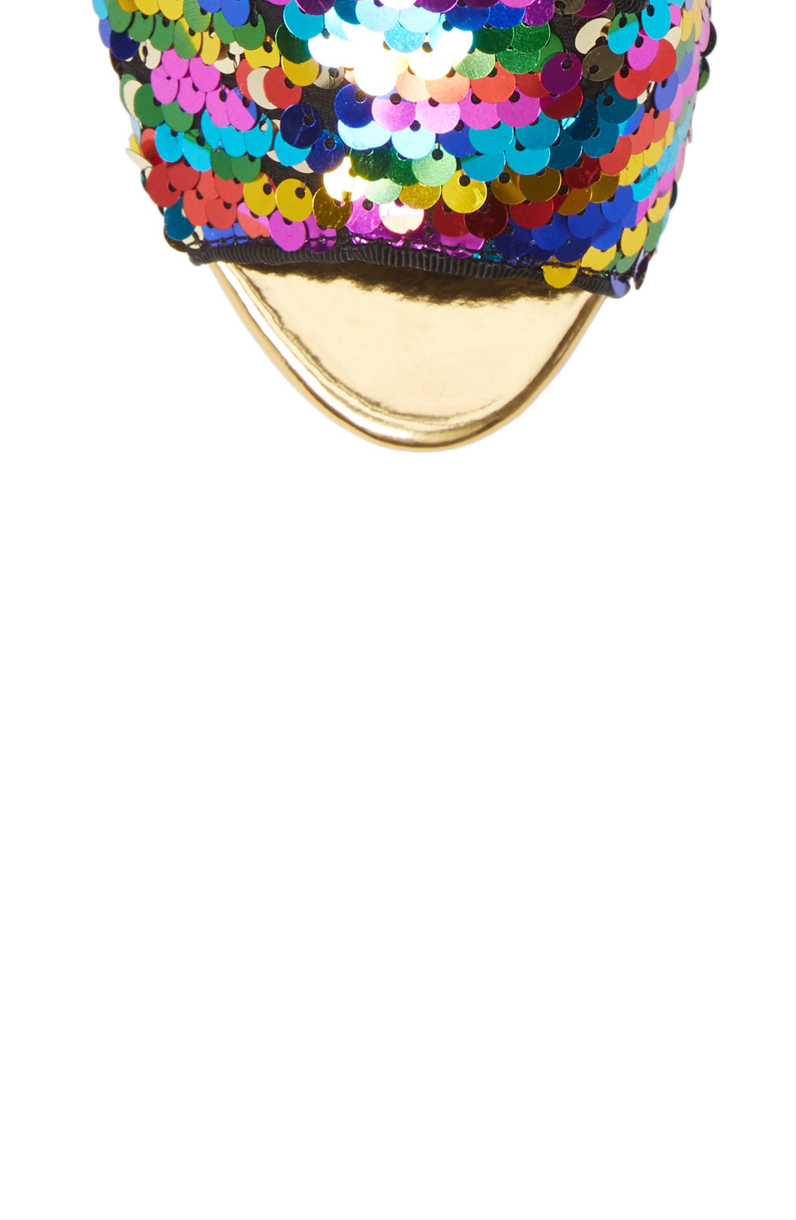 LAUREN LORRAINE, Roxy Sequin Sandal, Alternate thumbnail 6, color, 710