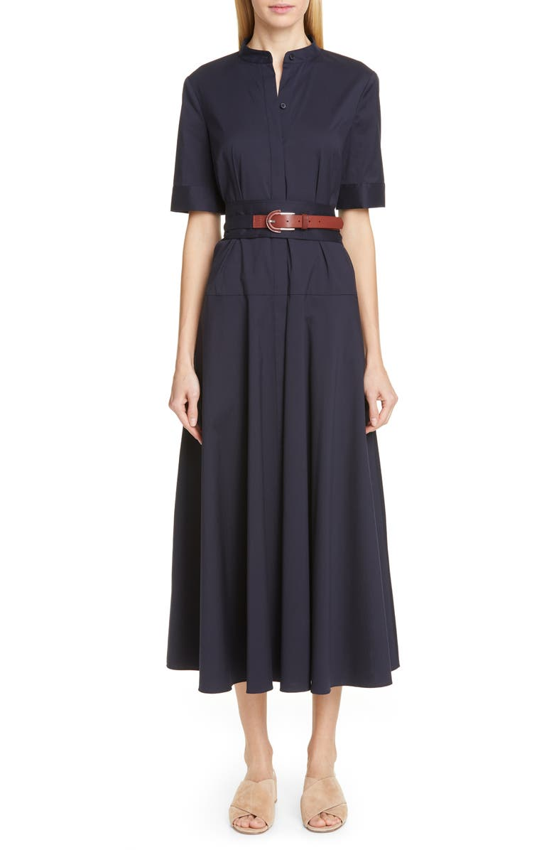 Lafayette 148 Dresses AUGUSTINA BELTED MIDI DRESS
