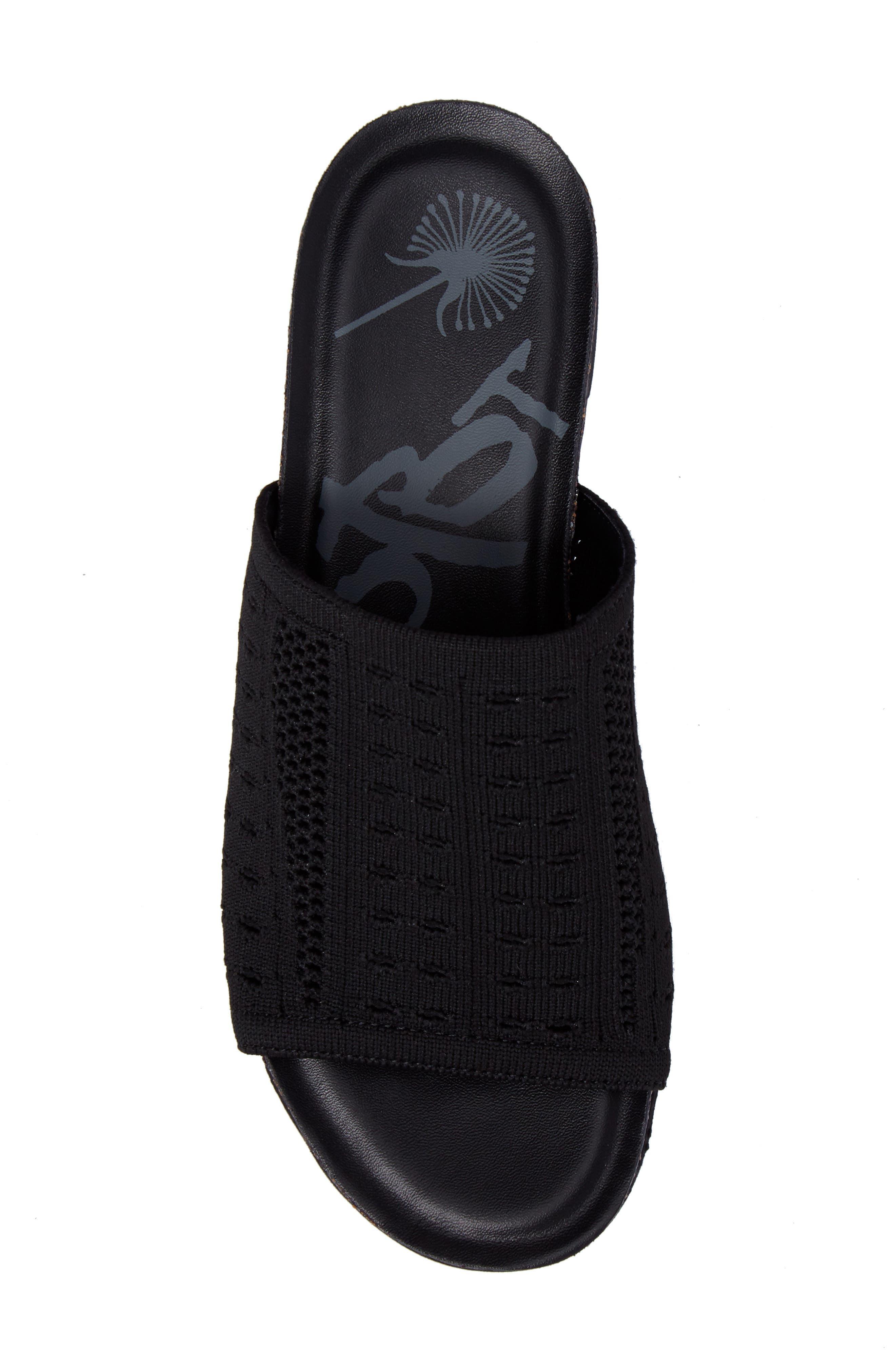 OTBT, Gravity Slide Sandal, Alternate thumbnail 5, color, BLACK FABRIC