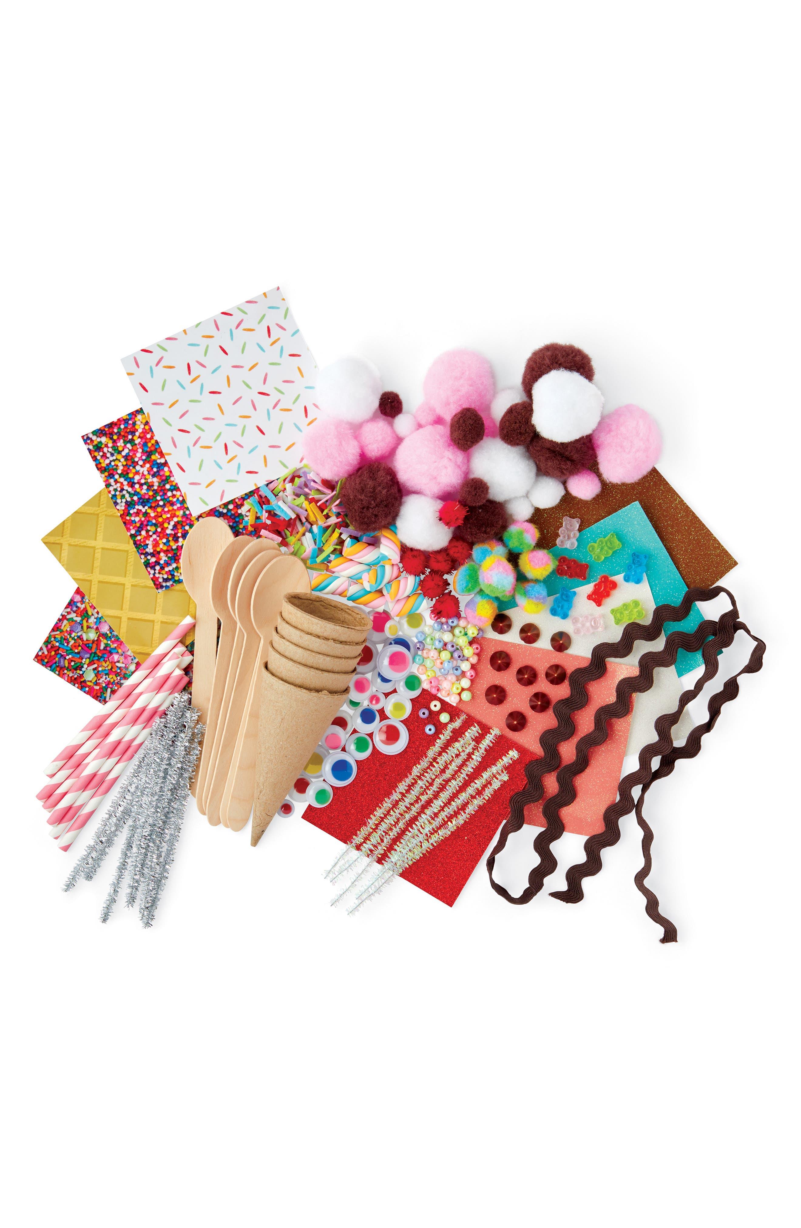 KID MADE MODERN, Ice Cream Craft Kit, Alternate thumbnail 2, color, MULTI