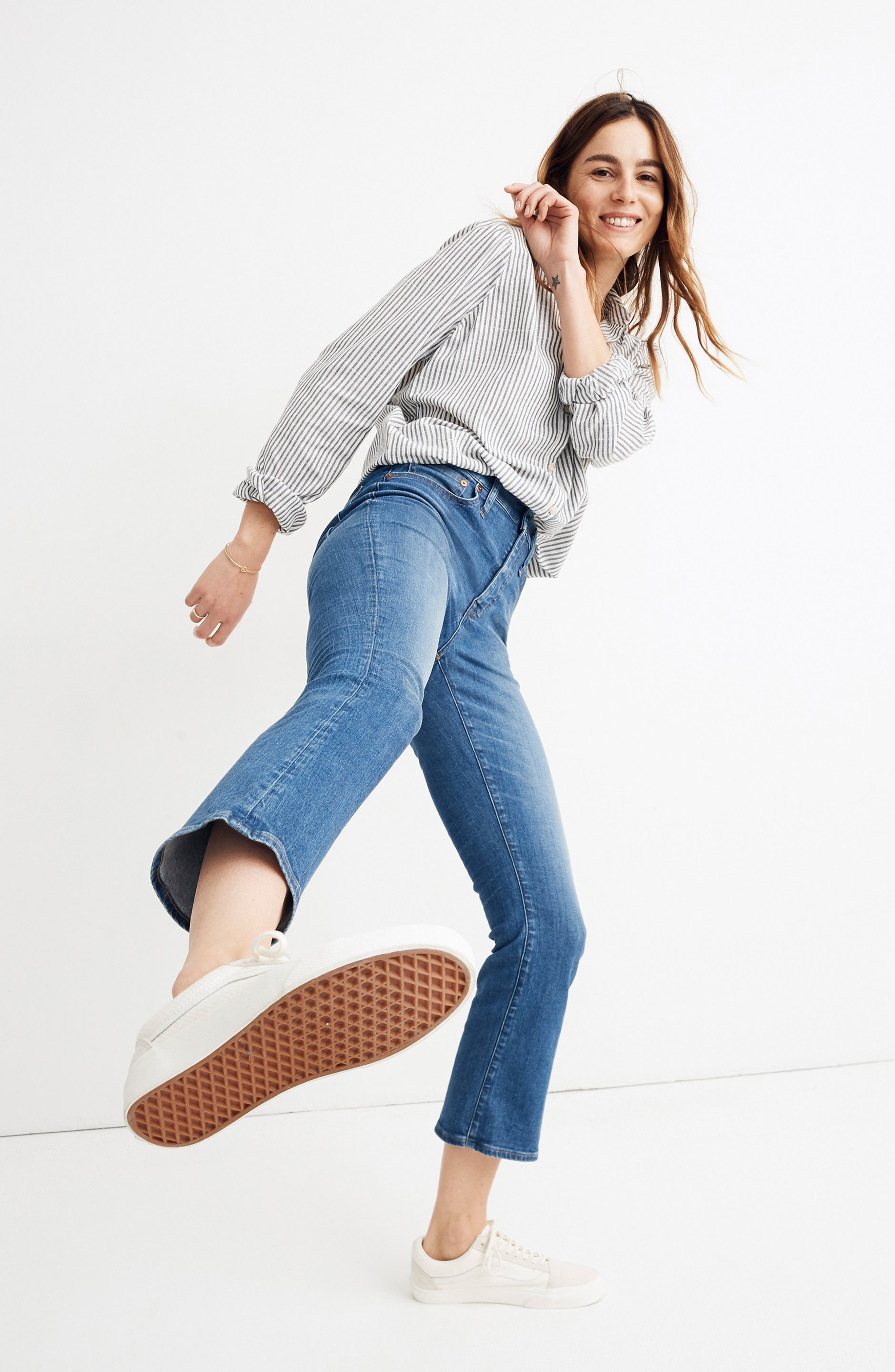 MADEWELL, Eco Edition Cali Demi Boot Jeans, Alternate thumbnail 16, color, TIERNEY WASH