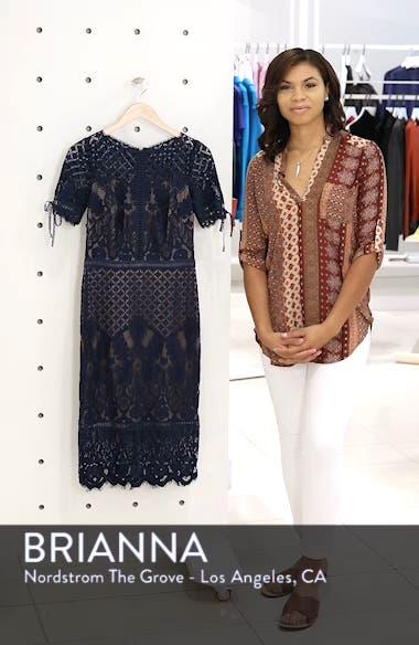 Tie Sleeve Lace Sheath Dress, sales video thumbnail