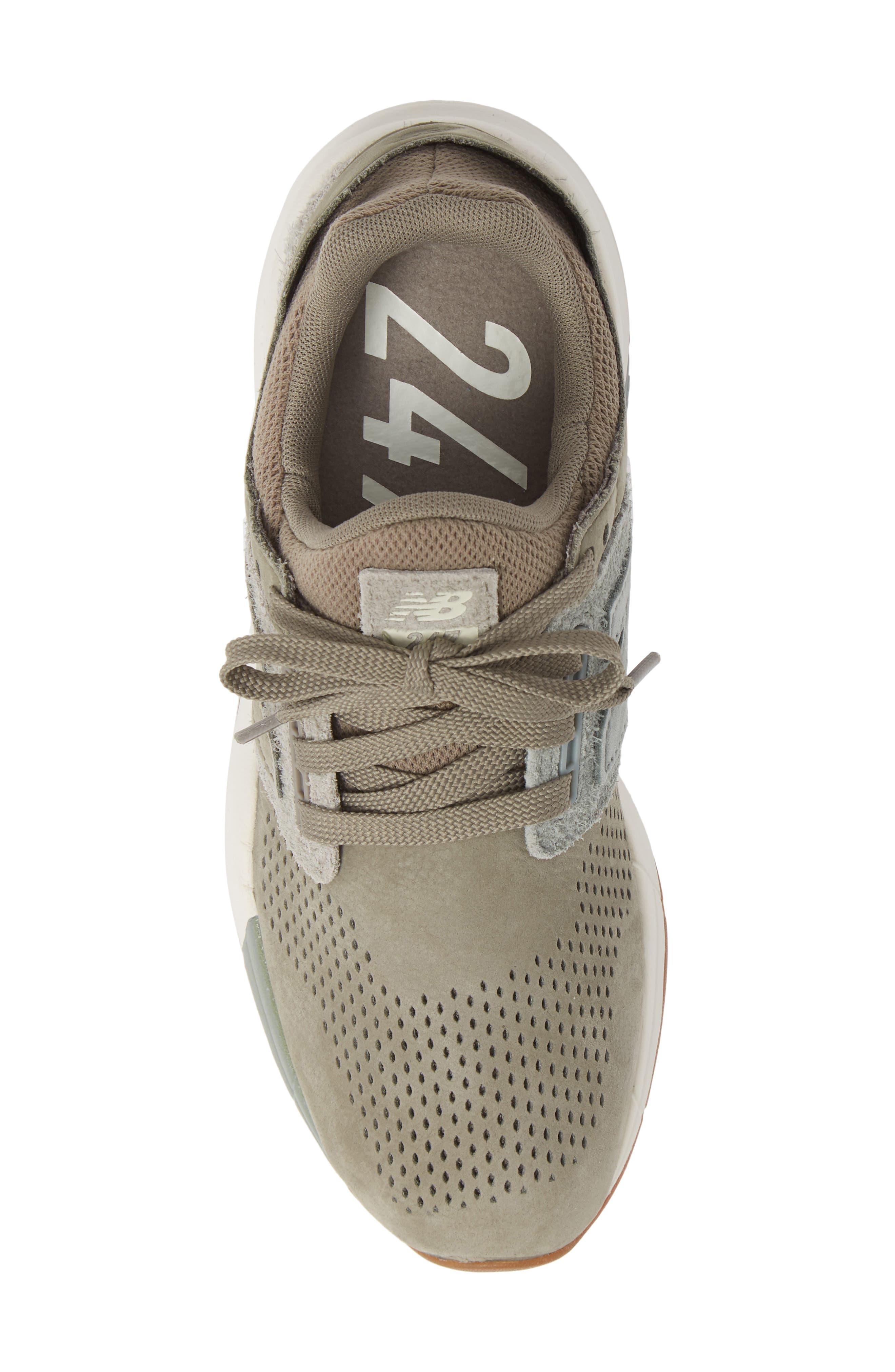 NEW BALANCE, Sport Style 247 Sneaker, Alternate thumbnail 5, color, MILITARY URBAN GREY