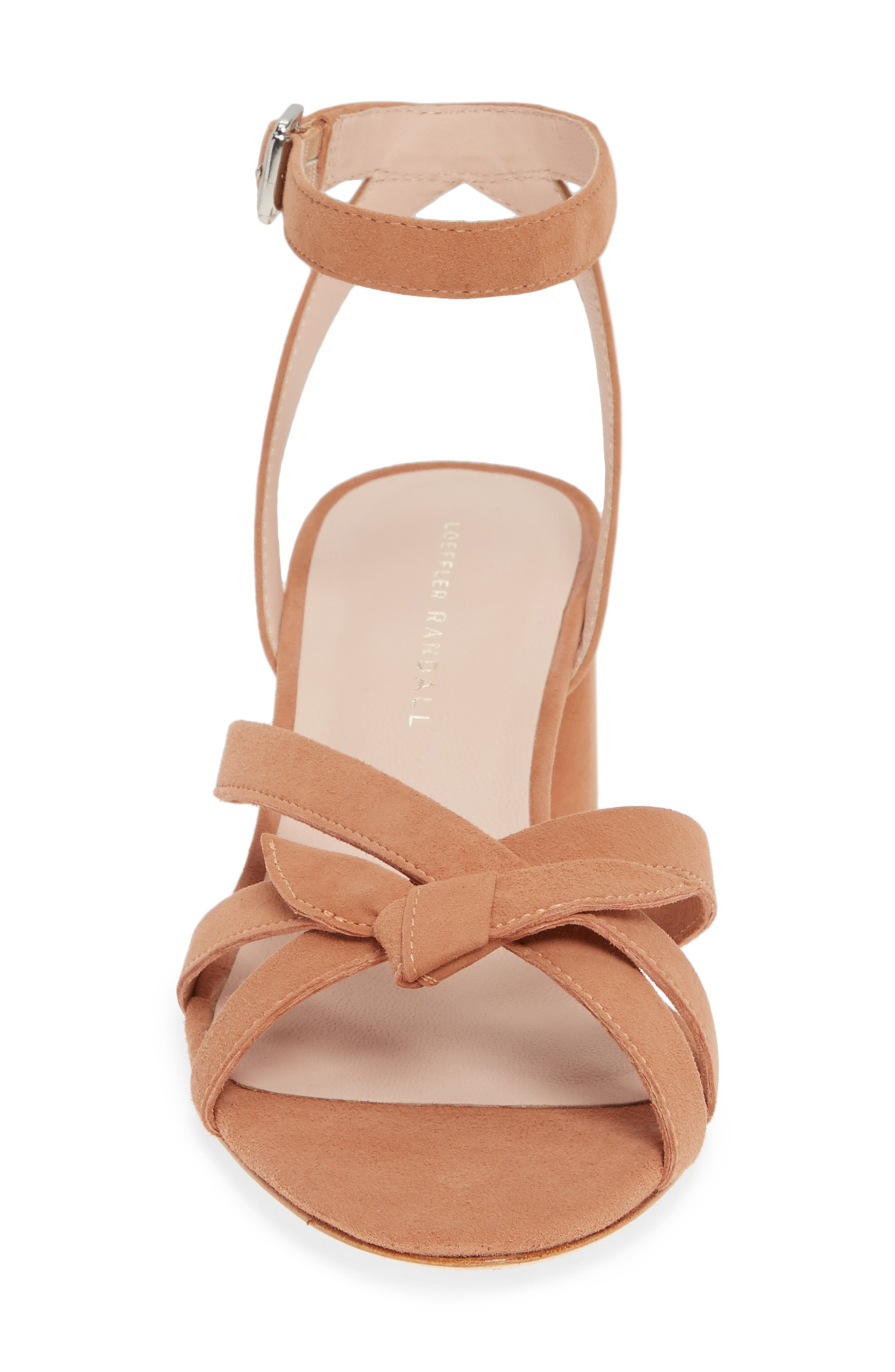 LOEFFLER RANDALL, Anny Knotted Sandal, Alternate thumbnail 4, color, COQUILLE
