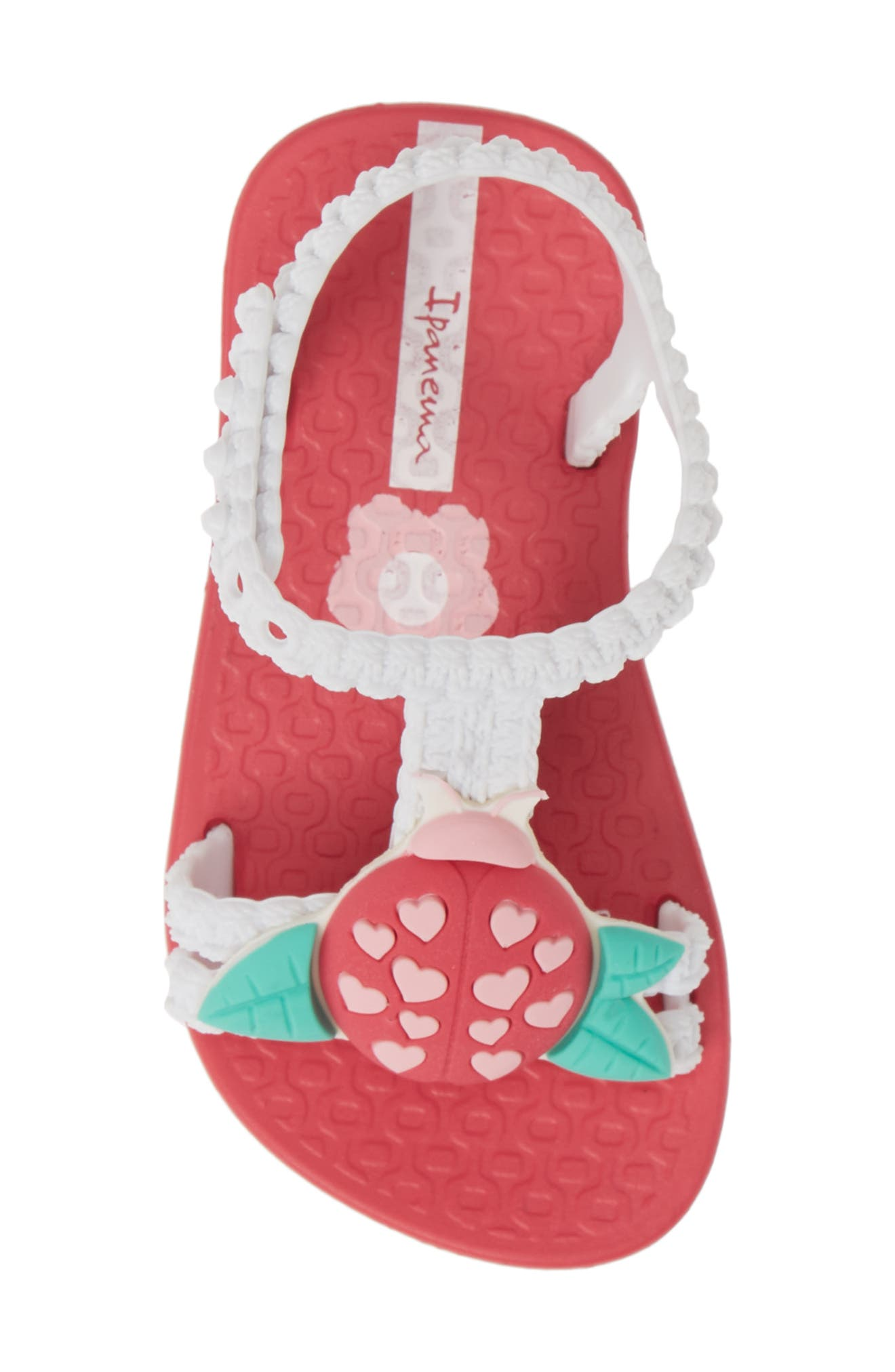IPANEMA, Buggy Baby Sandal, Alternate thumbnail 5, color, PINK/ WHITE