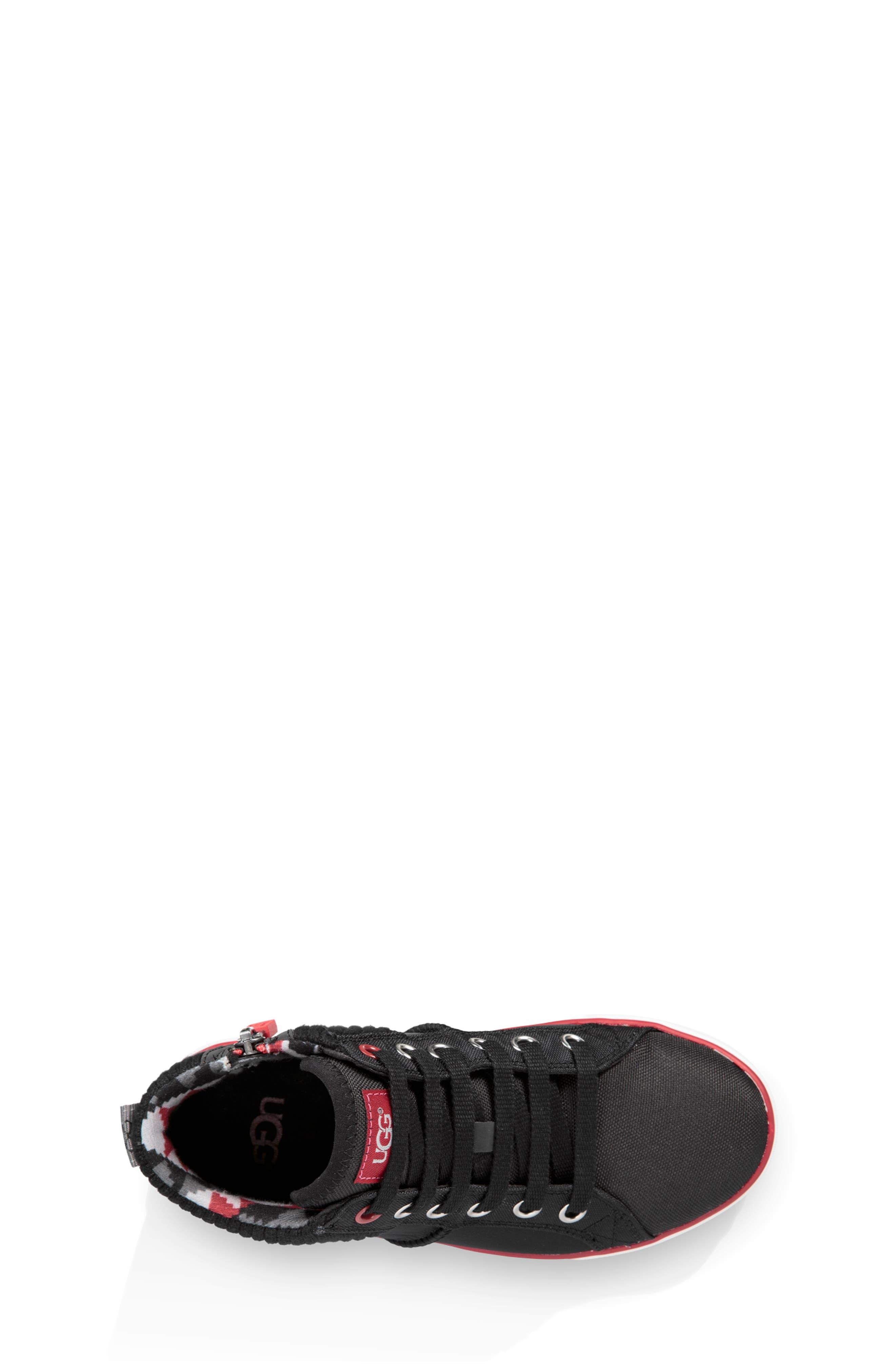 UGG<SUP>®</SUP>, Boscoe Sneaker, Alternate thumbnail 4, color, 001