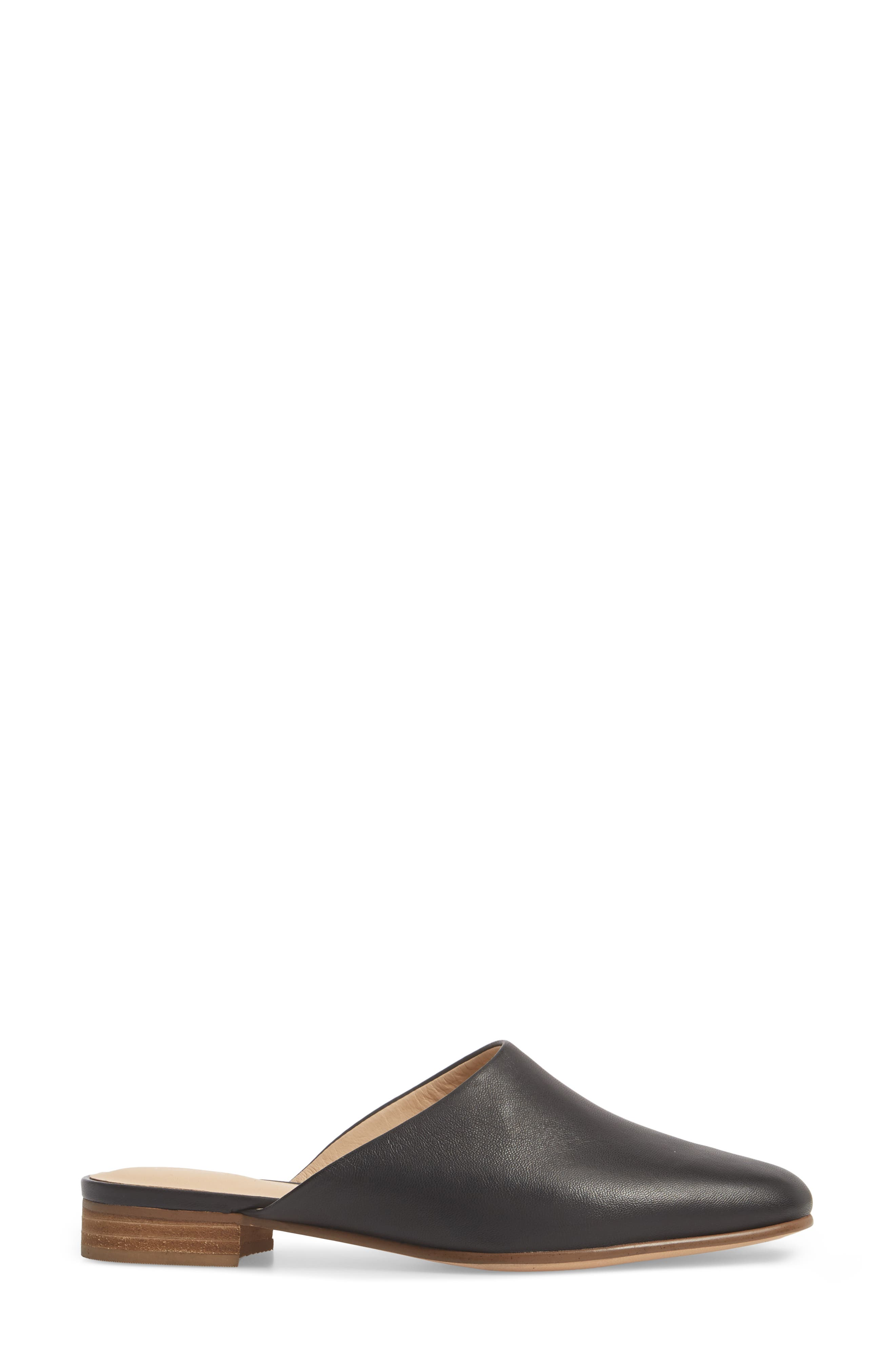 CLARKS<SUP>®</SUP>, Pure Blush Mule, Alternate thumbnail 3, color, BLACK LEATHER