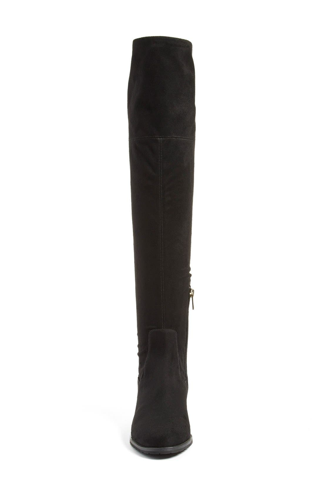 IVANKA TRUMP, 'Luci' Over the Knee Boot, Alternate thumbnail 2, color, 001
