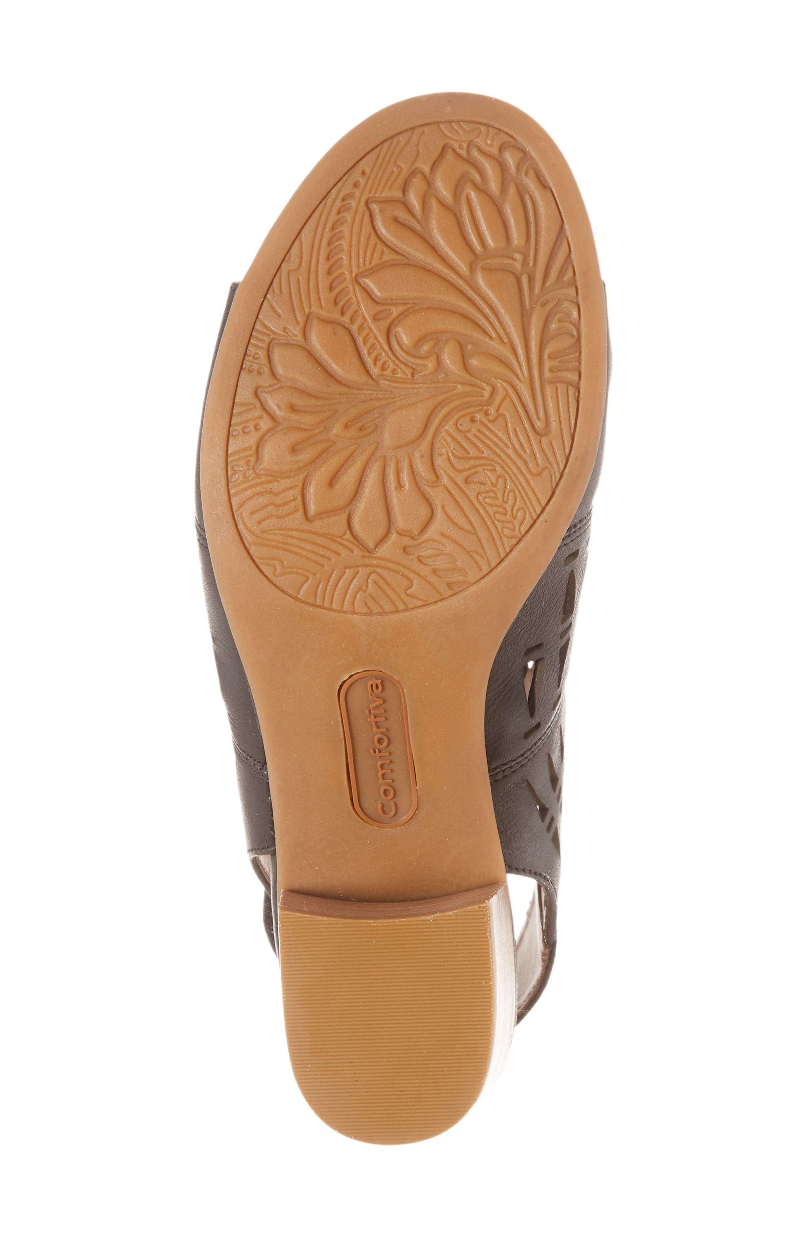 COMFORTIVA, Ally Sandal, Alternate thumbnail 6, color, 001