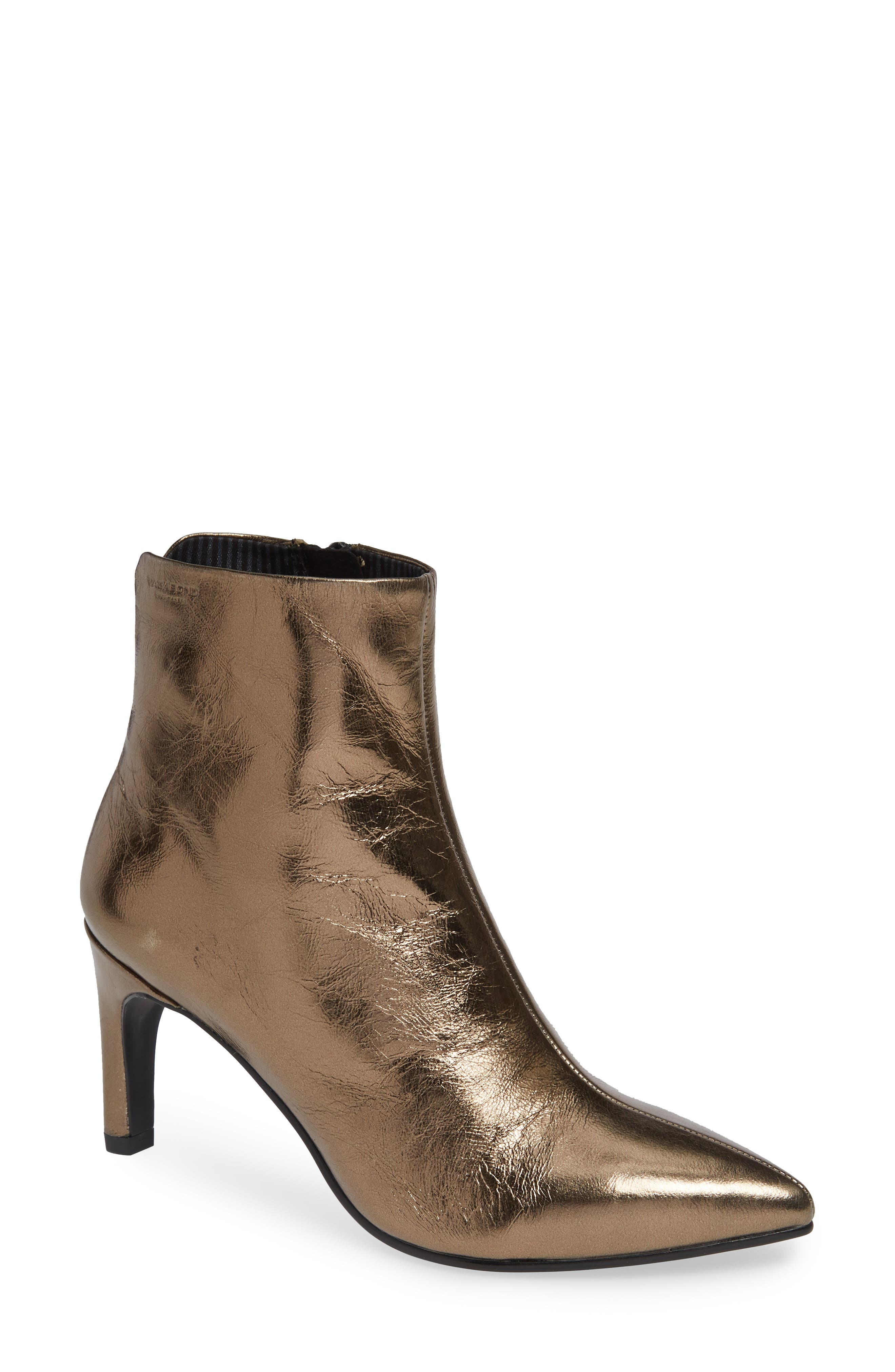 VAGABOND, Shoemakers Whitney Pointy Toe Bootie, Main thumbnail 1, color, BRONZE LEATHER