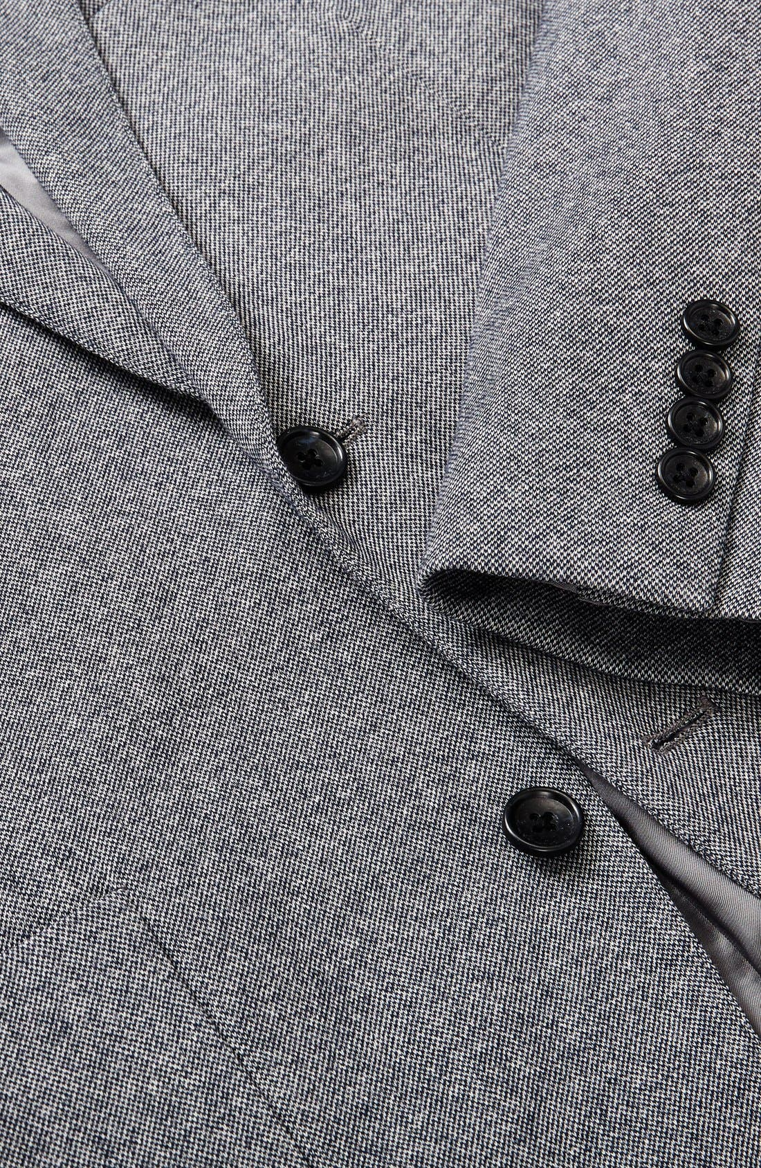 BONOBOS, Jetsetter Slim Fit Knit Cotton Sport Coat, Alternate thumbnail 8, color, LIGHT GREY