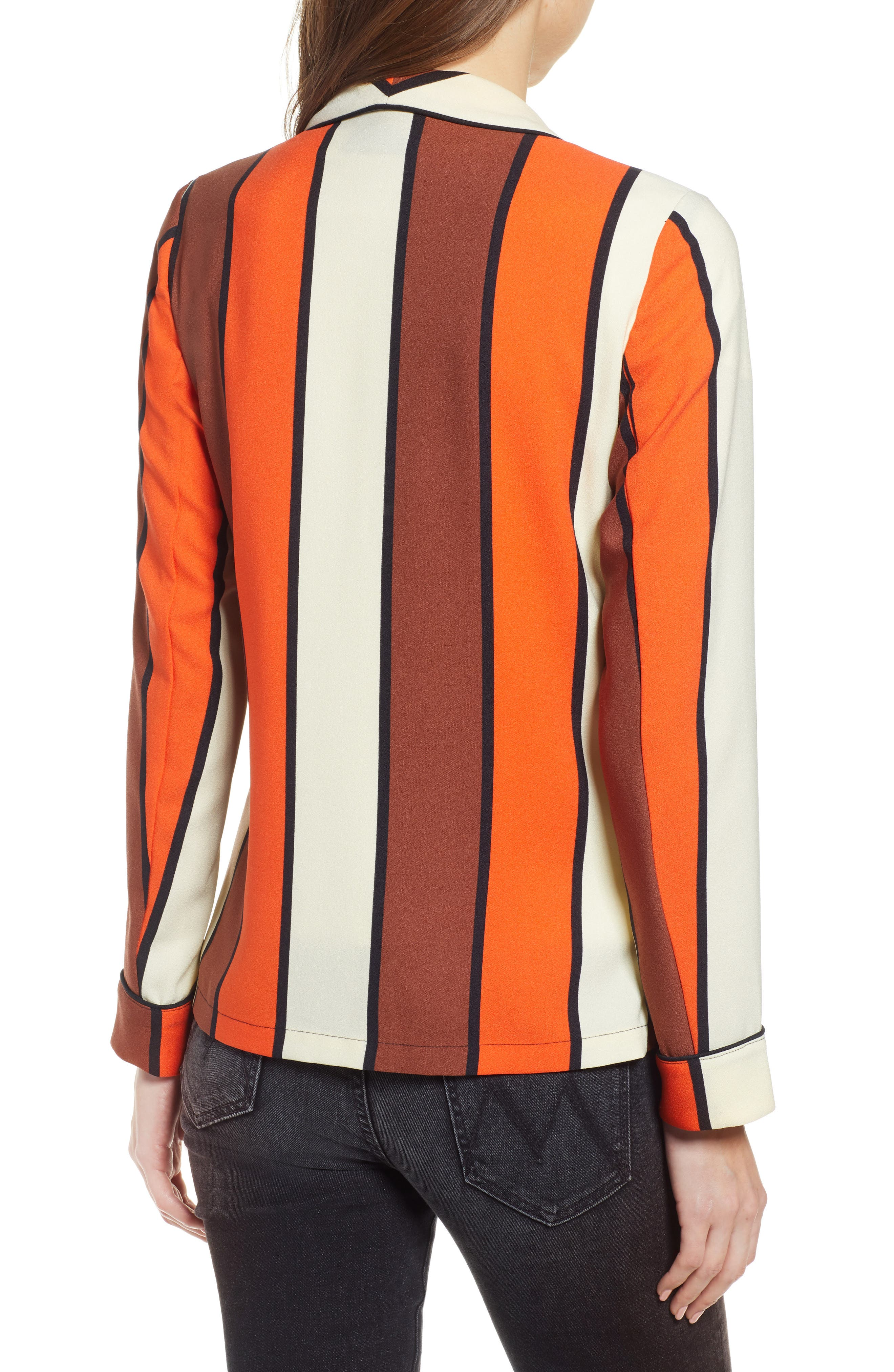 SCOTCH & SODA, Stripe Drapey Blazer, Alternate thumbnail 2, color, COMBO S