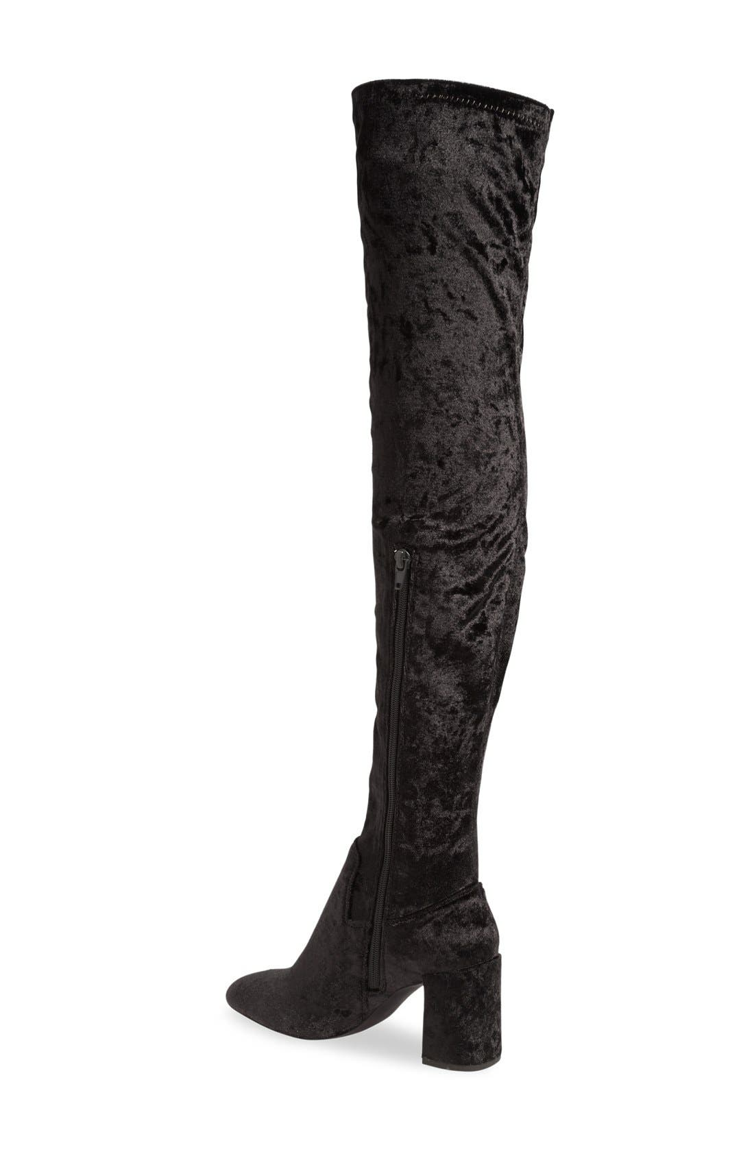JEFFREY CAMPBELL, 'Cienega' Over the Knee Boot, Alternate thumbnail 2, color, 001