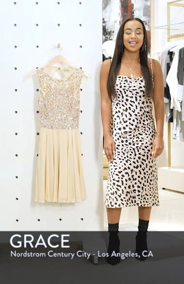 Corals Sequin Back Cutout Dress, sales video thumbnail