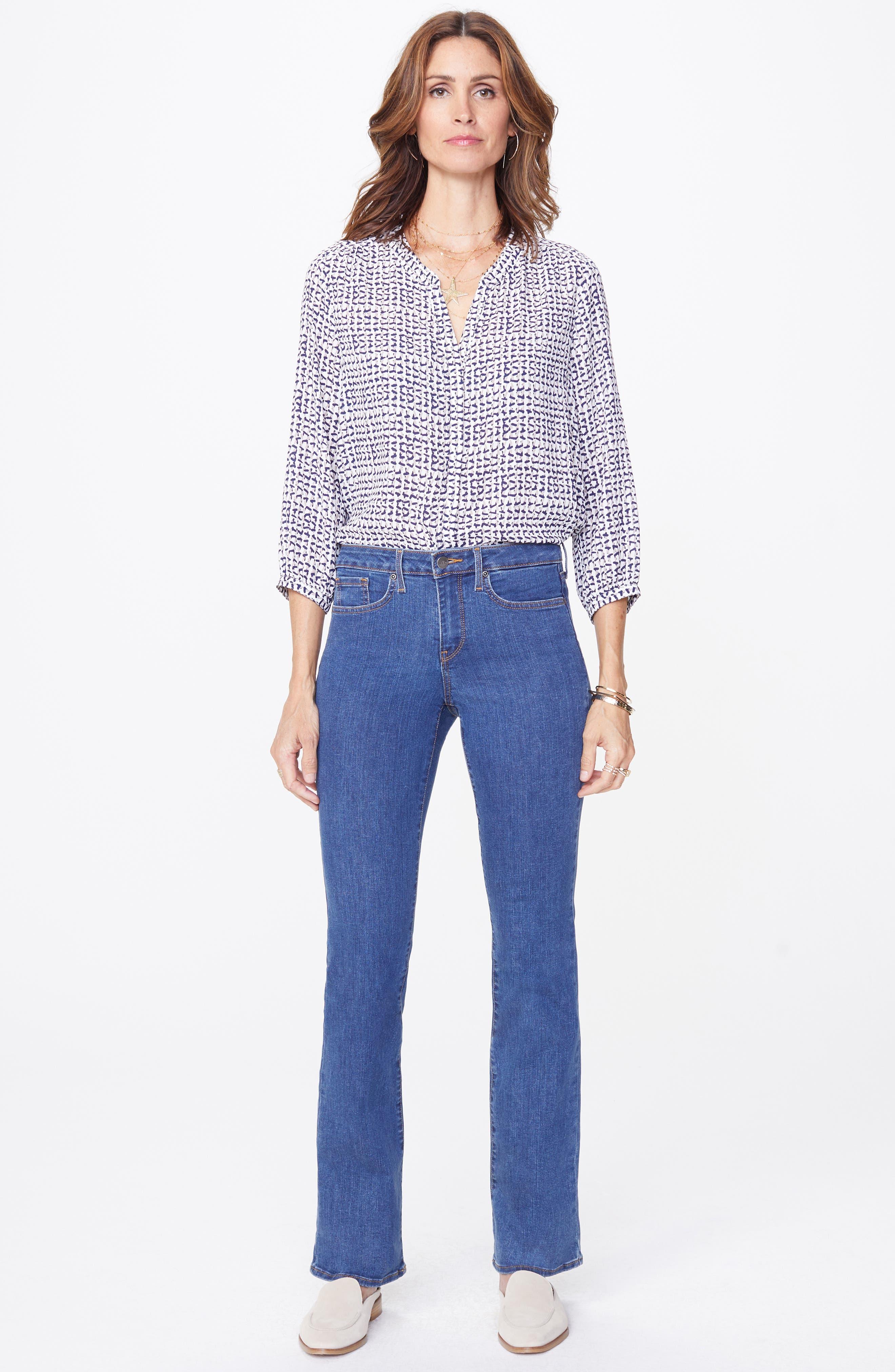 NYDJ, Barbara Stretch Bootcut Jeans, Alternate thumbnail 4, color, BATIK BLUE
