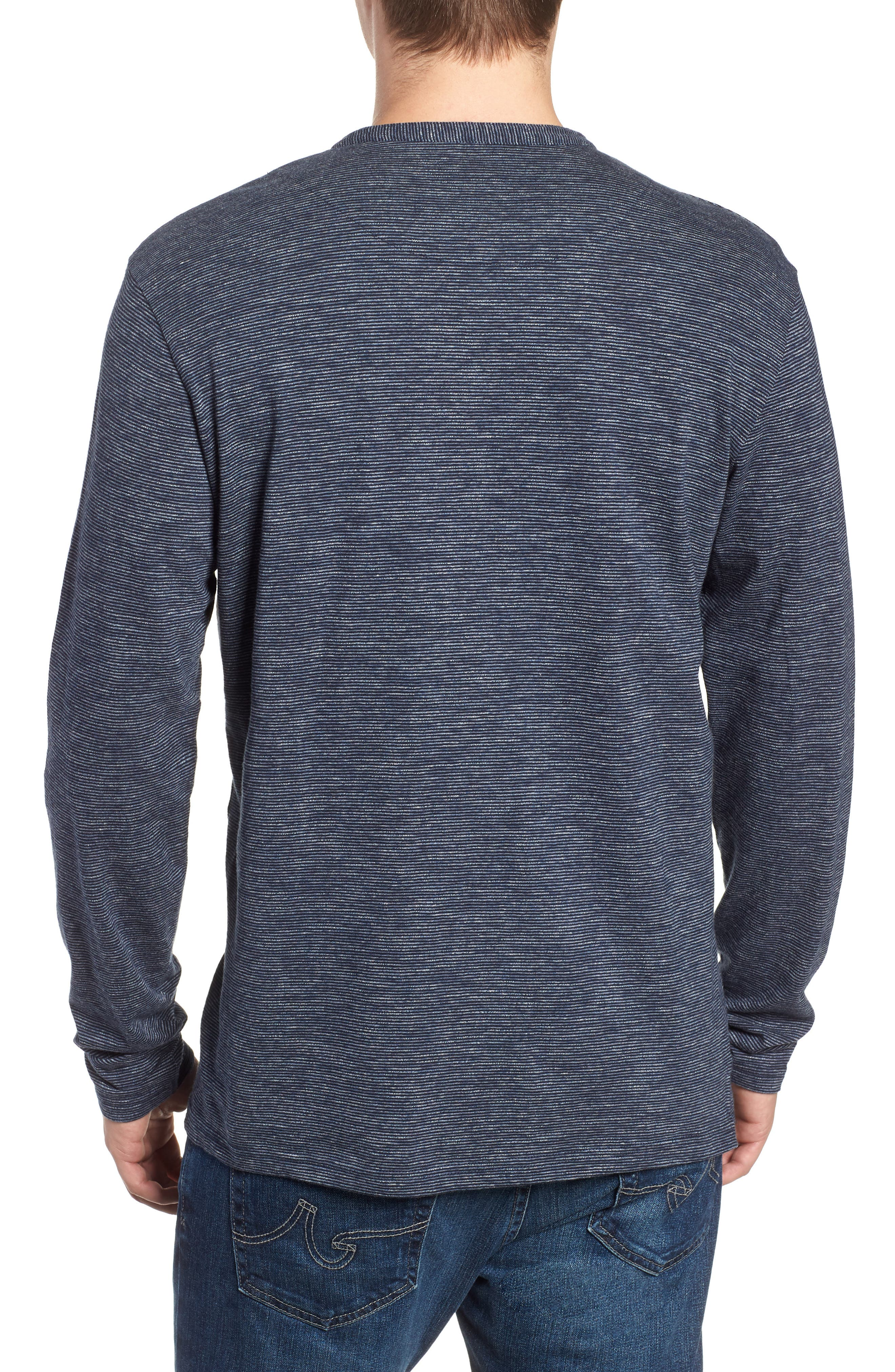 RODD & GUNN, Tasman Downs Regular Fit Henley, Alternate thumbnail 2, color, NAVY