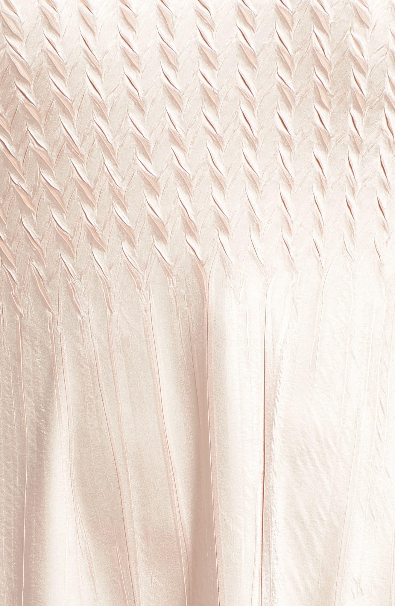 KOMAROV, Tiered Hem Ombré Dress with Jacket, Alternate thumbnail 6, color, VINTAGE ROSE WITH CAFE OMBRE