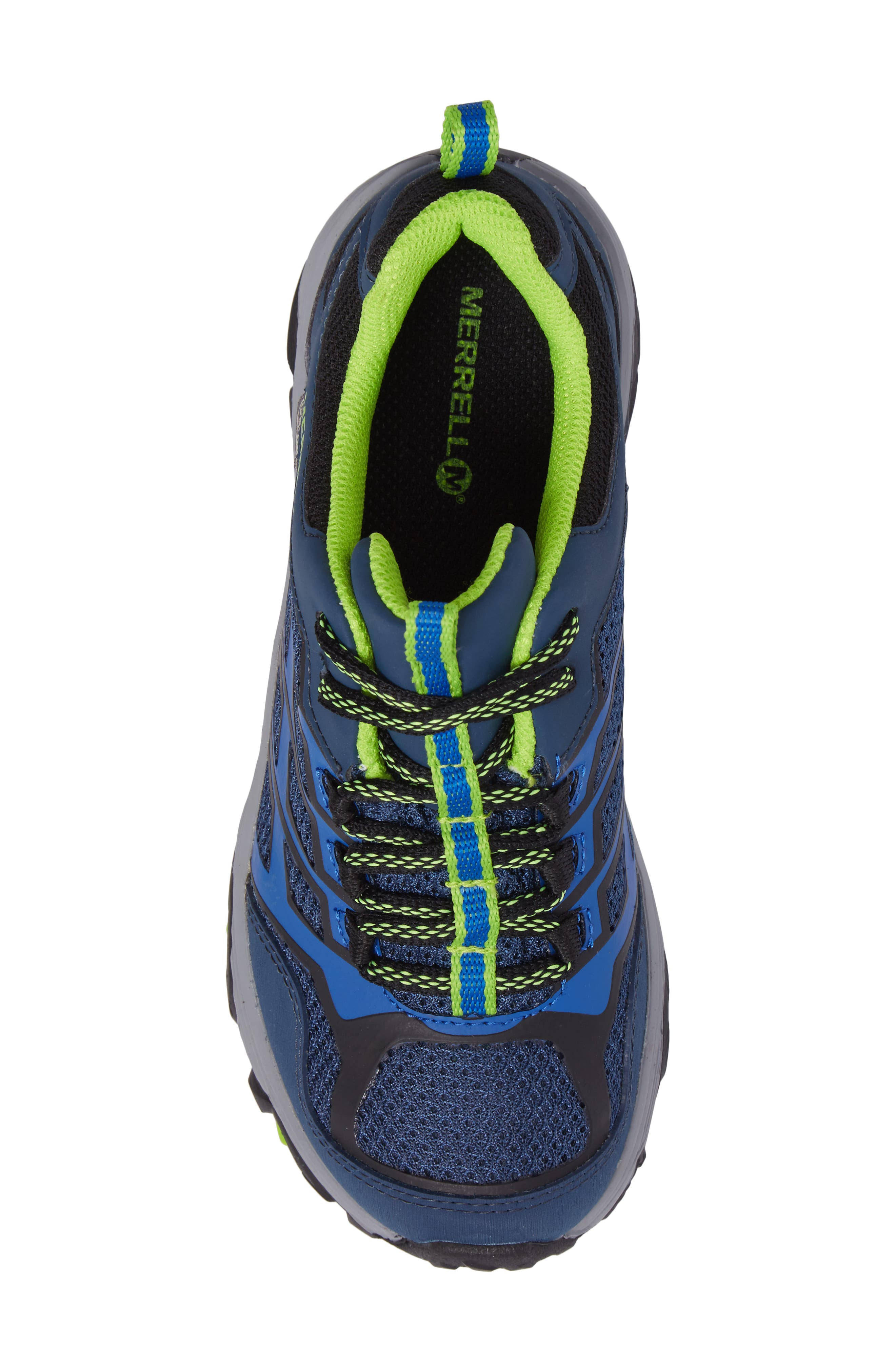 MERRELL, Moab FST Polar Low Waterproof Sneaker, Alternate thumbnail 5, color, NAVY/ BLUE