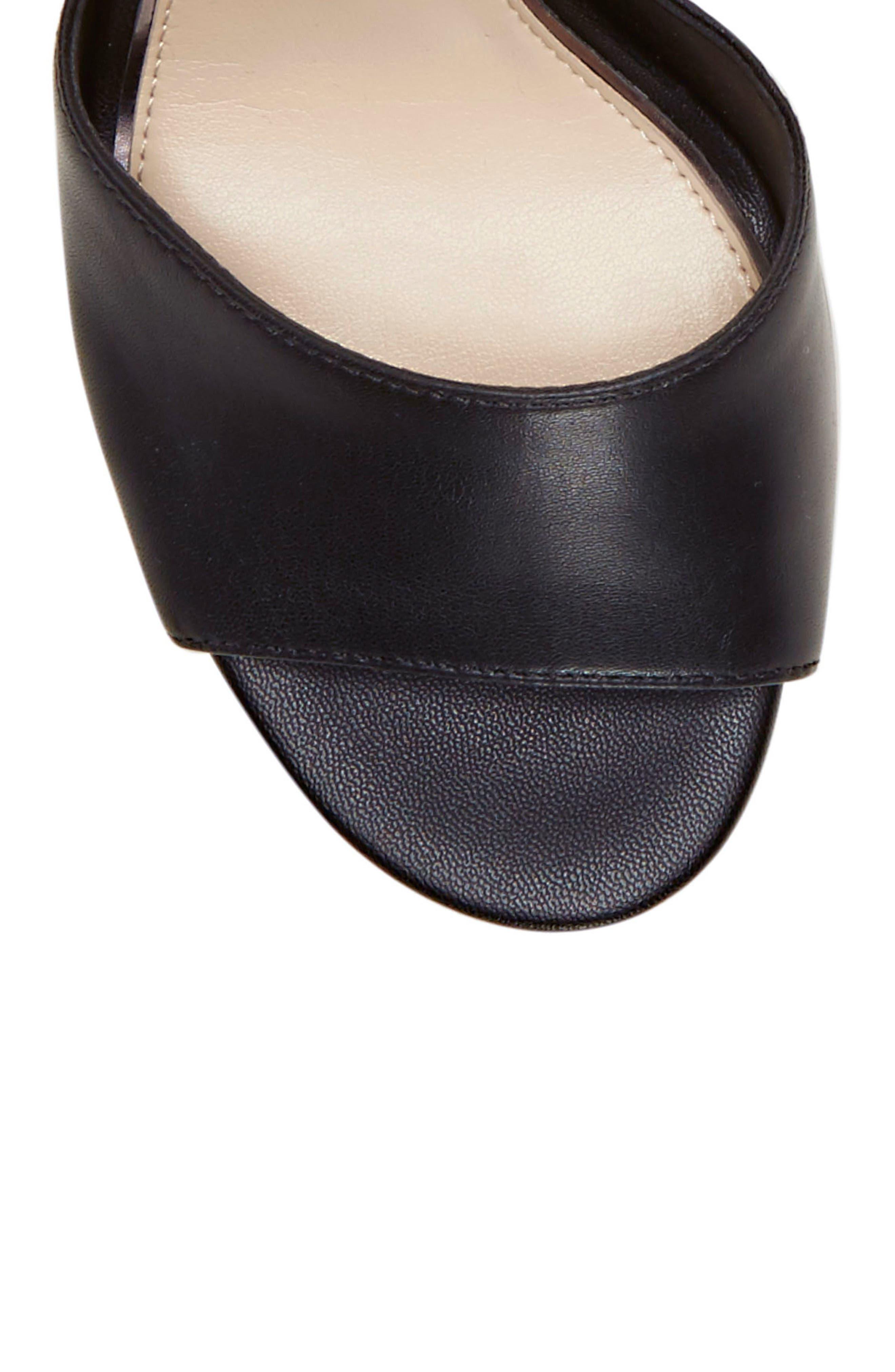 JESSICA SIMPSON, Sherron Sandal, Alternate thumbnail 8, color, BLACK SOFT SILK