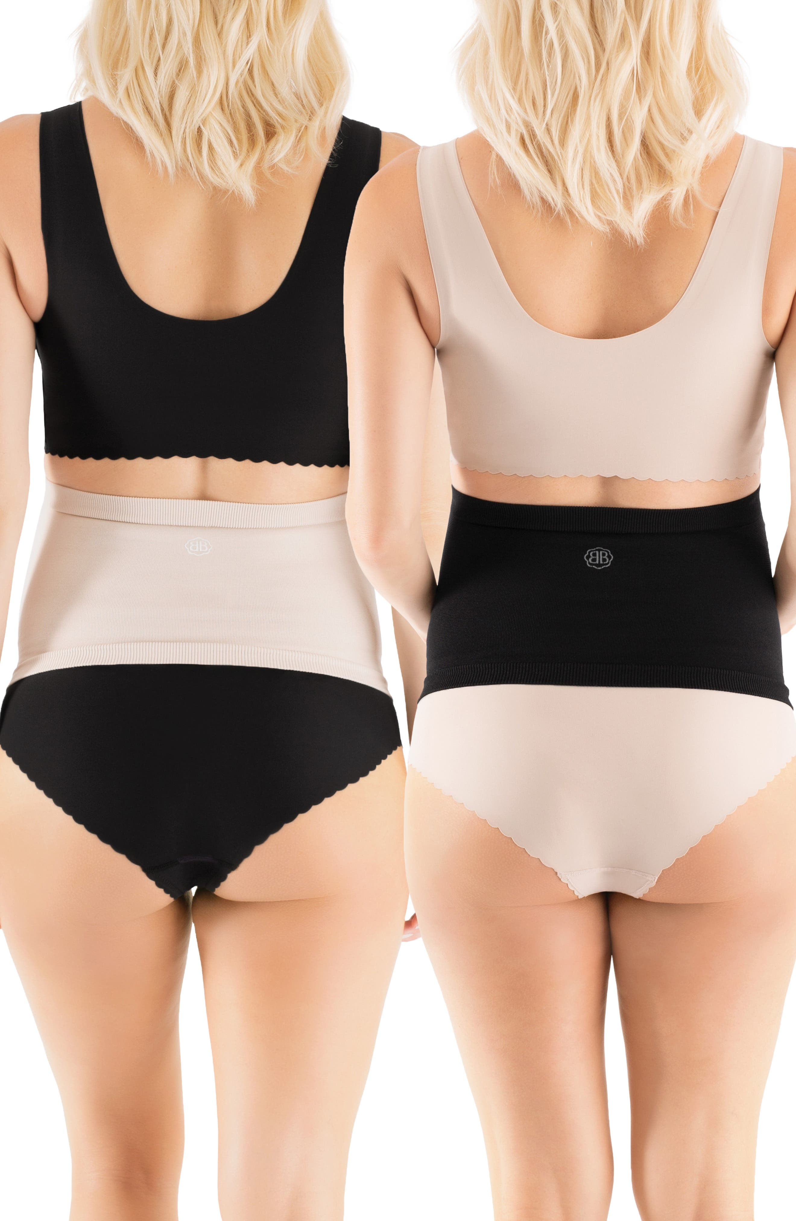 BELLY BANDIT<SUP>®</SUP>, Belly Boost<sup>™</sup> 2-Pack Bundle, Alternate thumbnail 2, color, BLACK AND NUDE