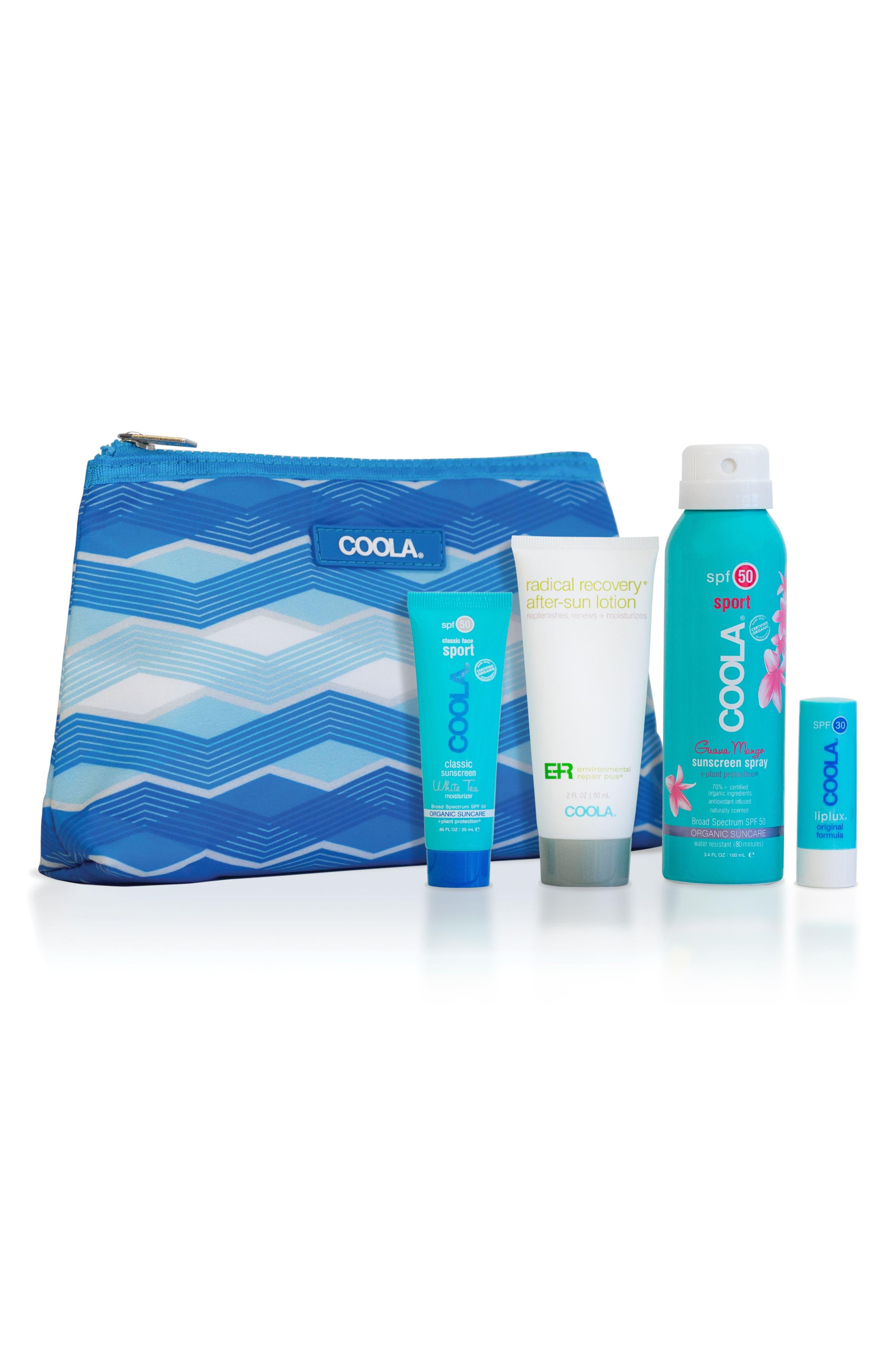 COOLA SUNCARE, COOLA<sup>®</sup> Suncare Sport Essential Travel Set, Main thumbnail 1, color, NO COLOR
