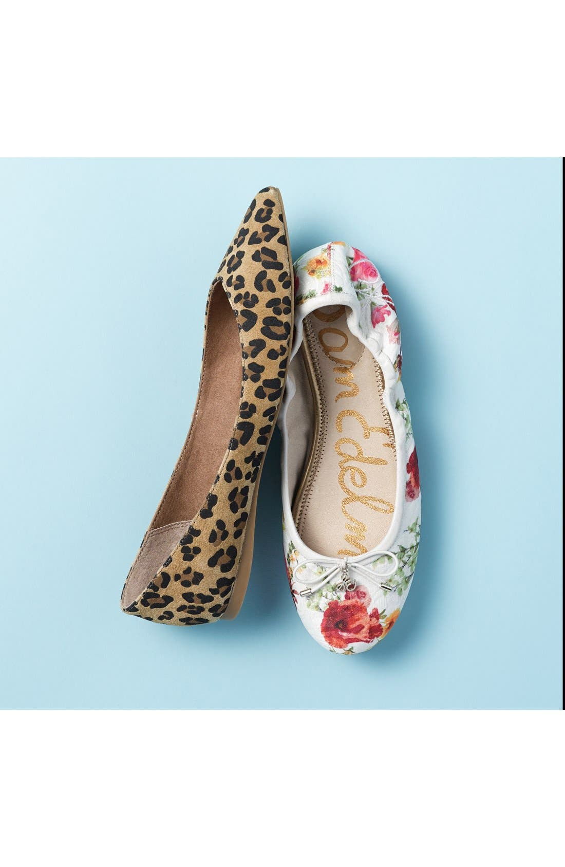 SAM EDELMAN, Felicia Flat, Alternate thumbnail 10, color, CLOUDED LEOPARD BRAHMA HAIR