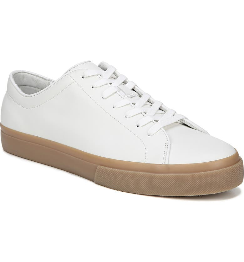 Vince Men's Farrell Calf Leather Low-top Sneakers In White/ Horchata