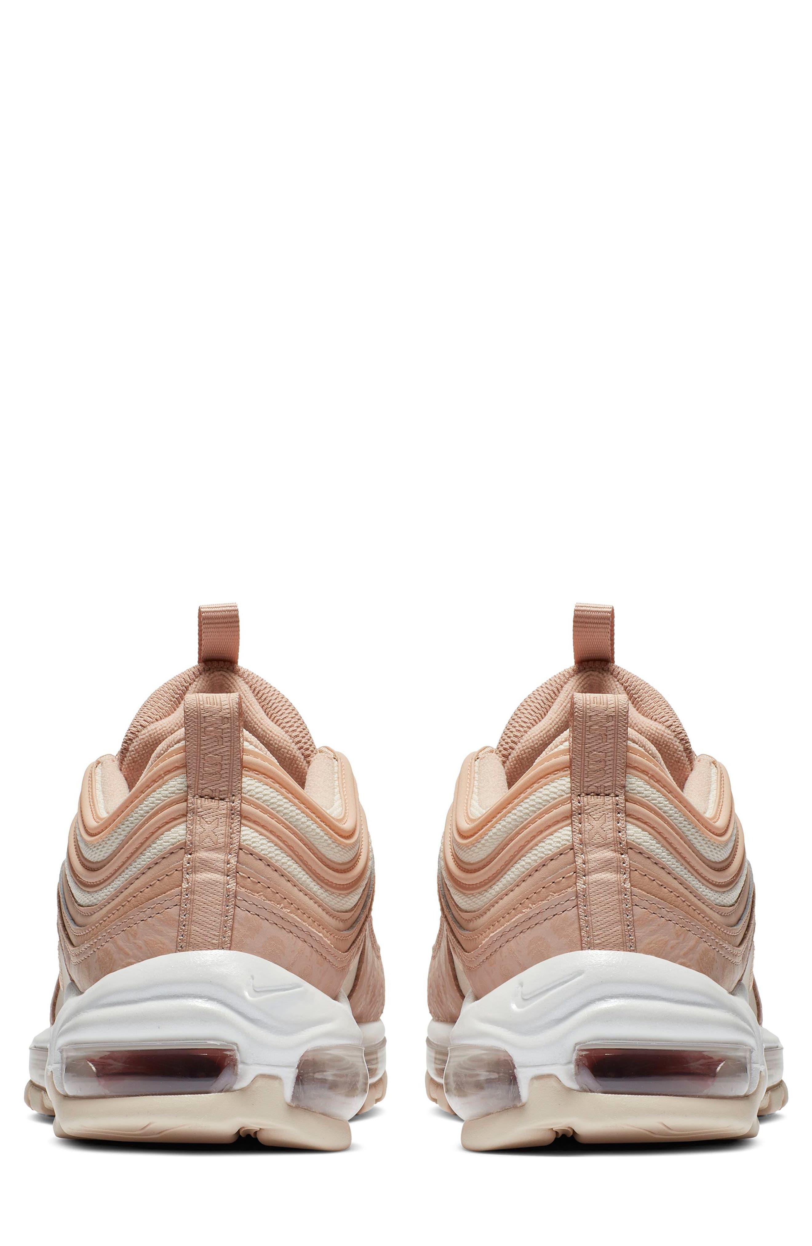 NIKE, Air Max 97 Lux Sneaker, Alternate thumbnail 2, color, BIO BEIGE/ CARBON/ PEACH