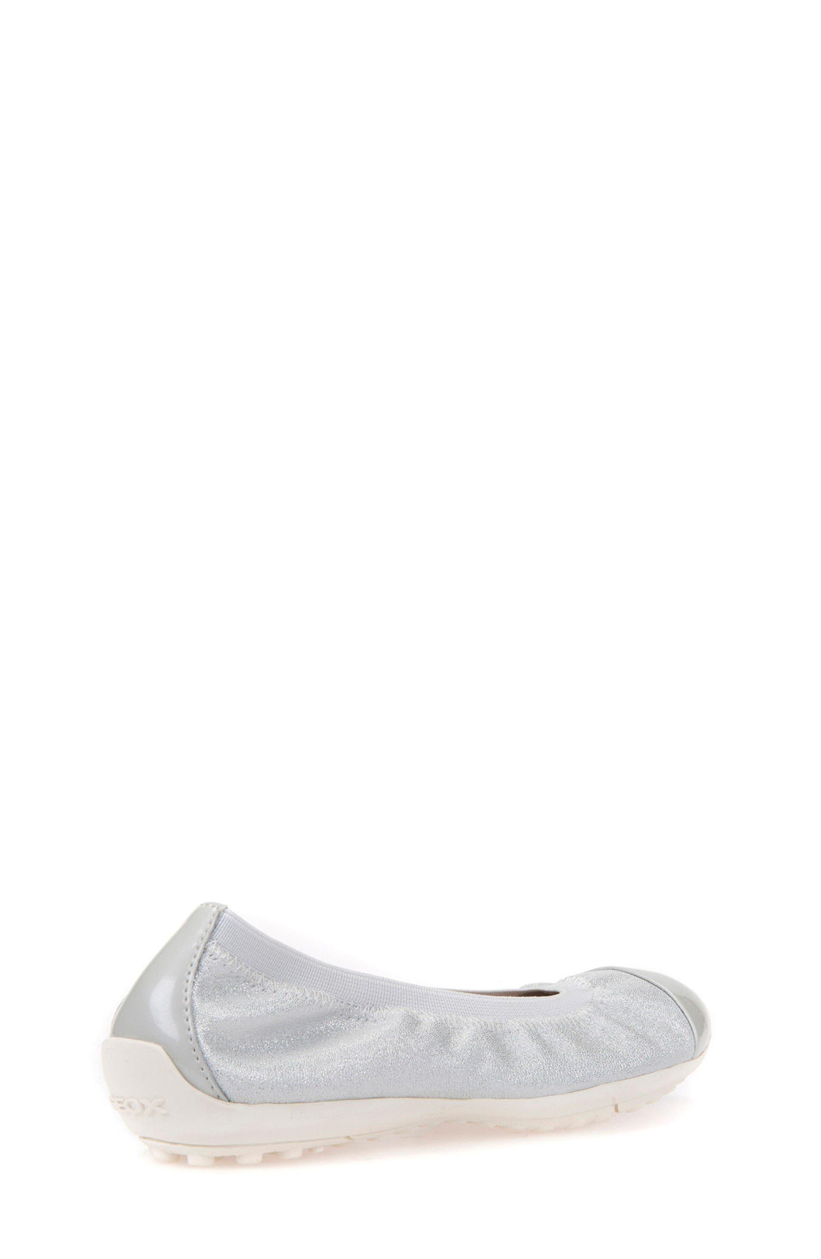 GEOX, Piuma Cap Toe Glitter Ballerina Flat, Alternate thumbnail 2, color, PEARL