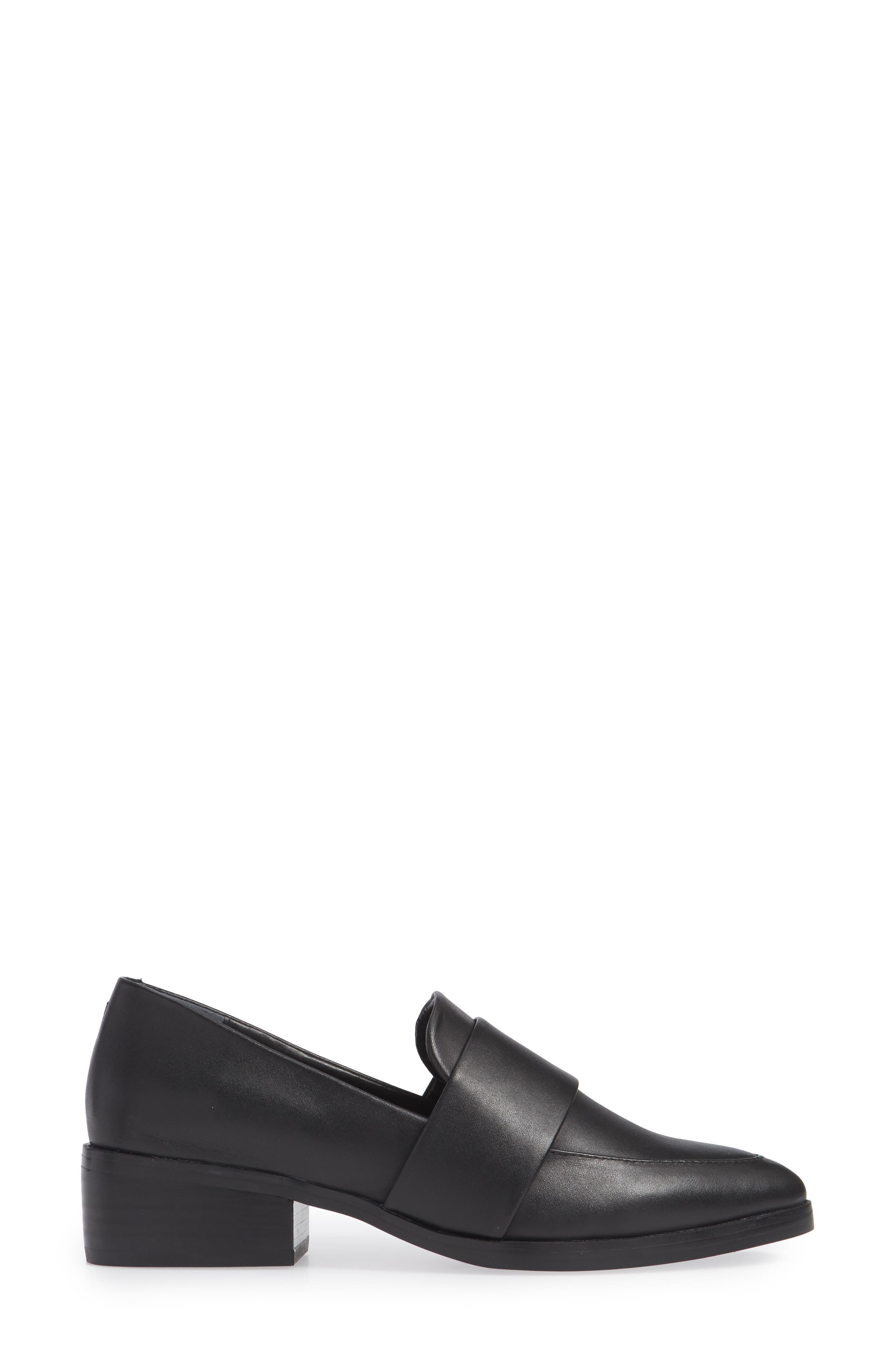 TONY BIANCO, Mayfair Loafer, Alternate thumbnail 3, color, BLACK LEATHER