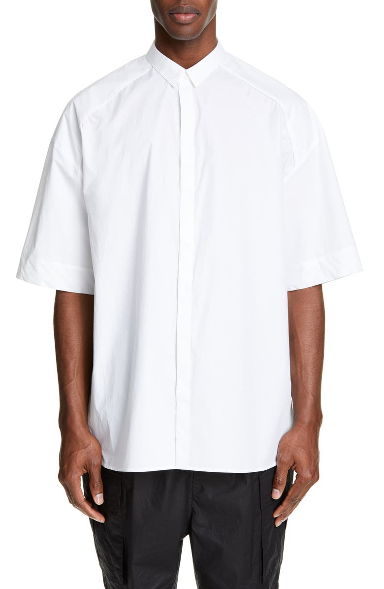 Juun.j T-shirts OVERSIZE WOVEN SHIRT WITH BACK VENT