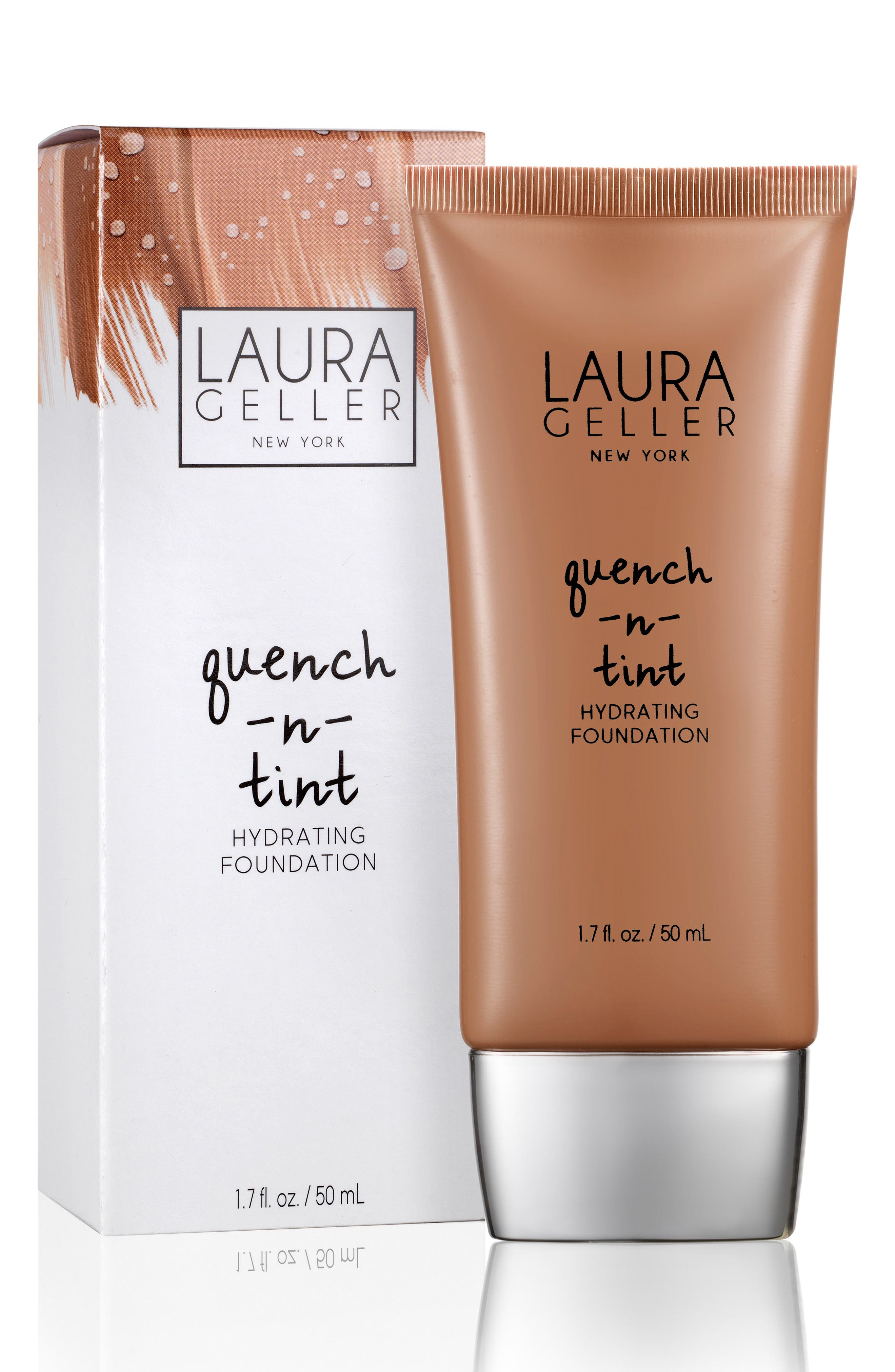 LAURA GELLER BEAUTY, Quench-n-Tint Hydrating Foundation, Alternate thumbnail 3, color, DEEP