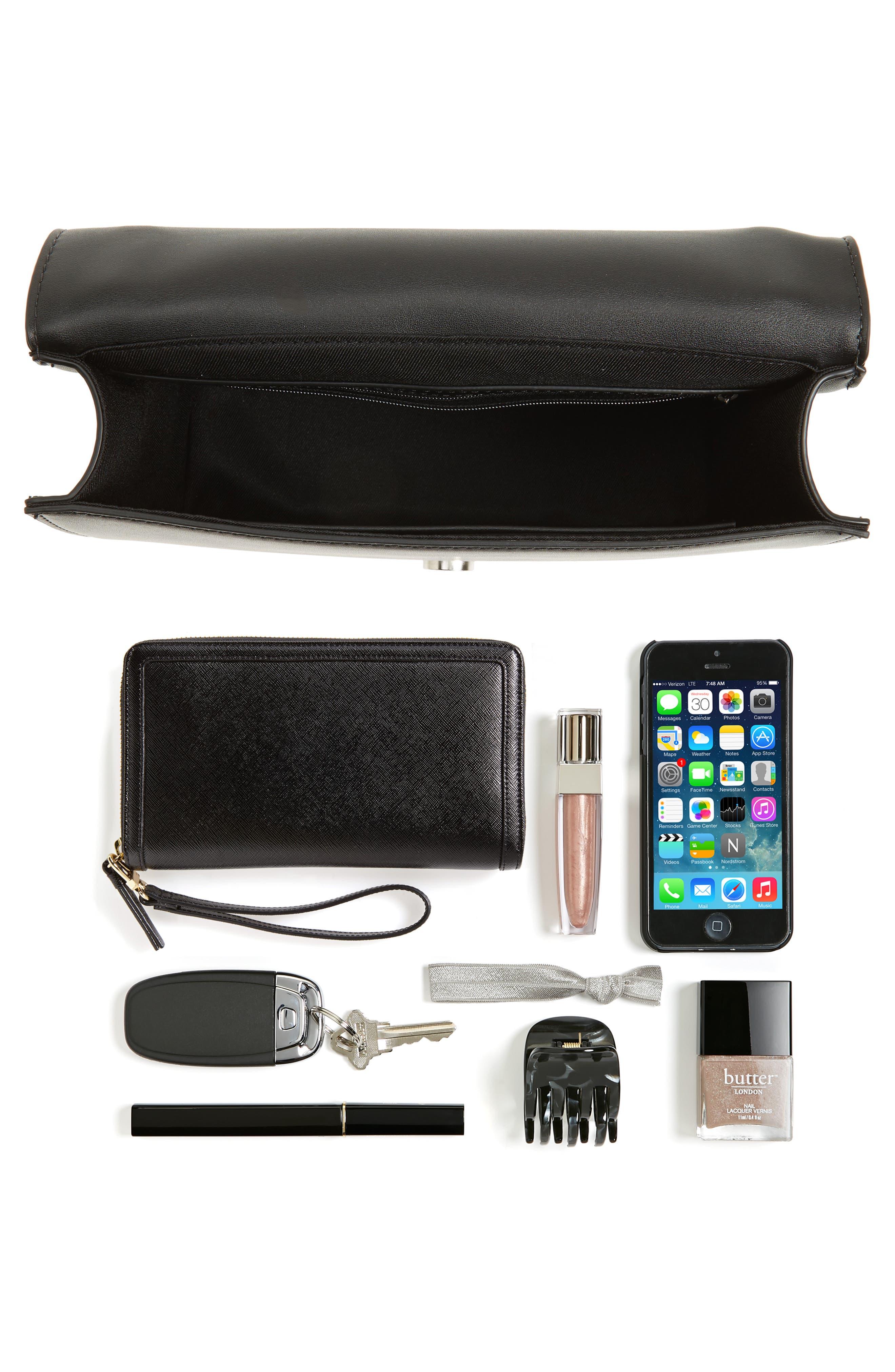 CHELSEA28, Dahlia Faux Leather Shoulder Bag, Alternate thumbnail 2, color, 001