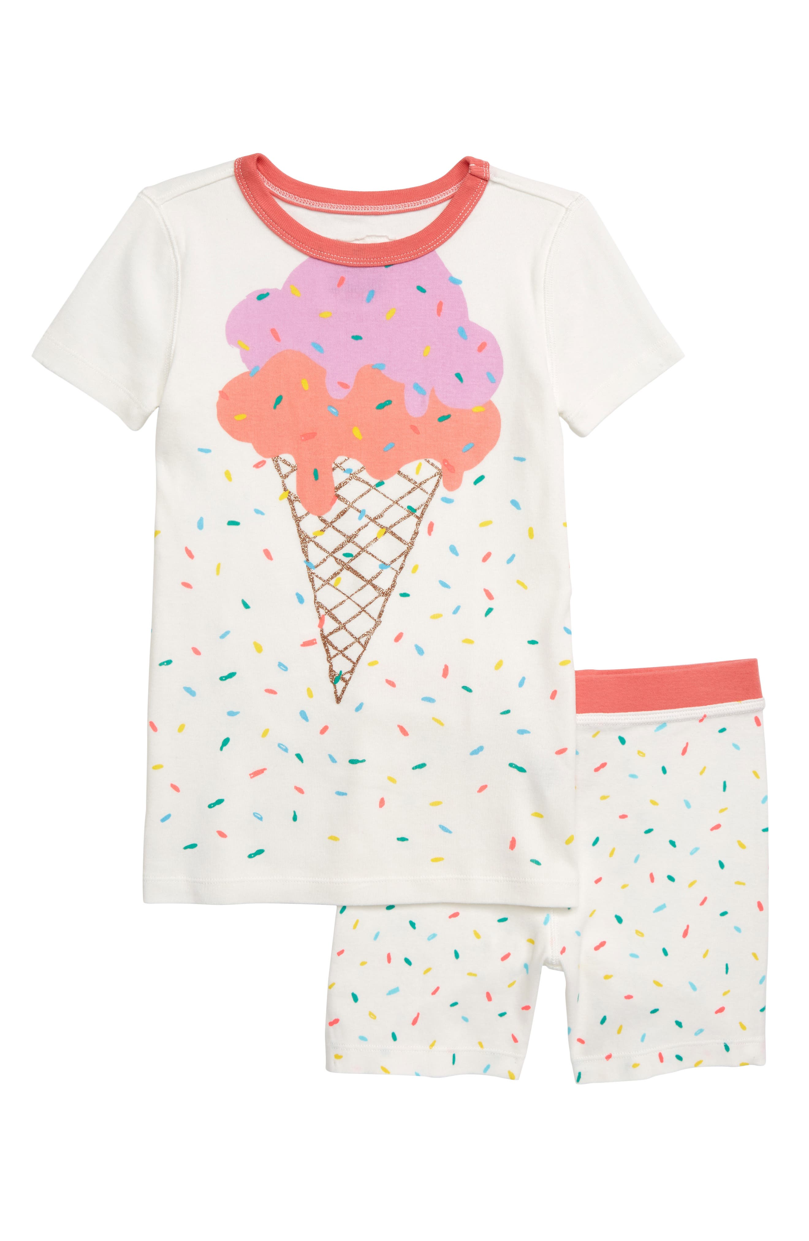 Toddler Girls Crewcuts By Jcrew Sprinkles Fitted TwoPiece Short Pajamas Size 2T  Ivory