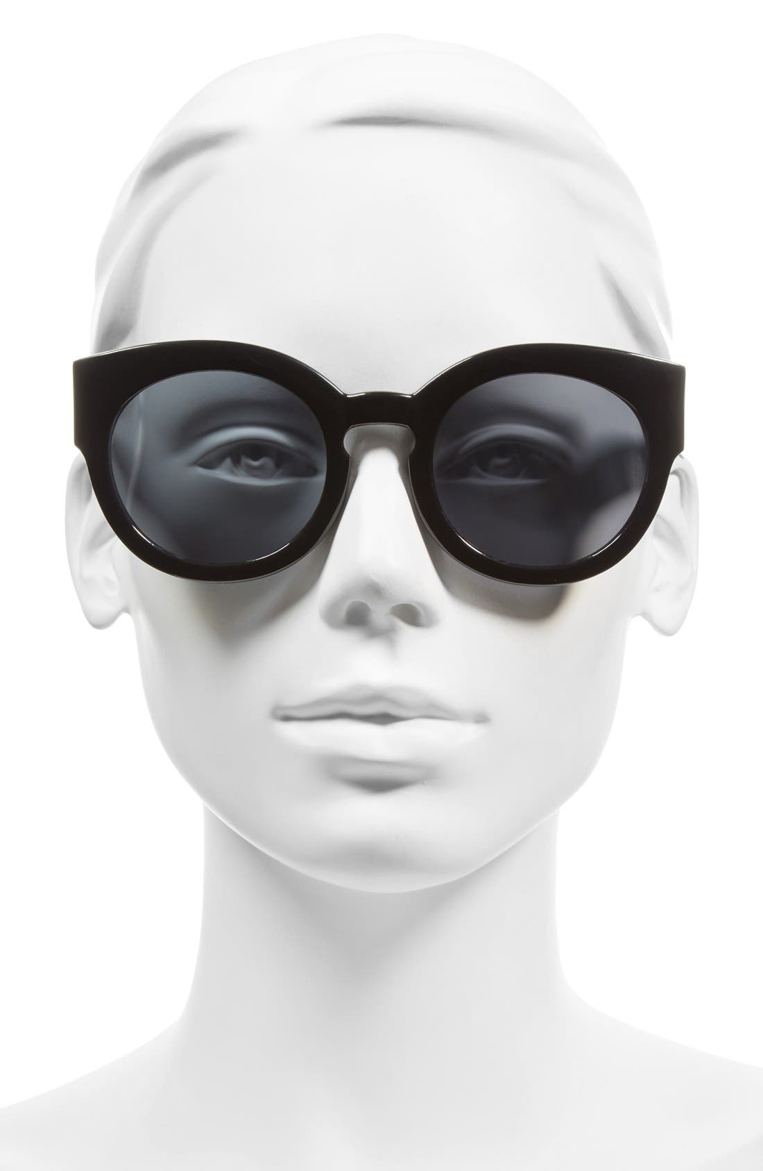 A.J. MORGAN, 'Sophia' 52mm Sunglasses, Alternate thumbnail 2, color, 001