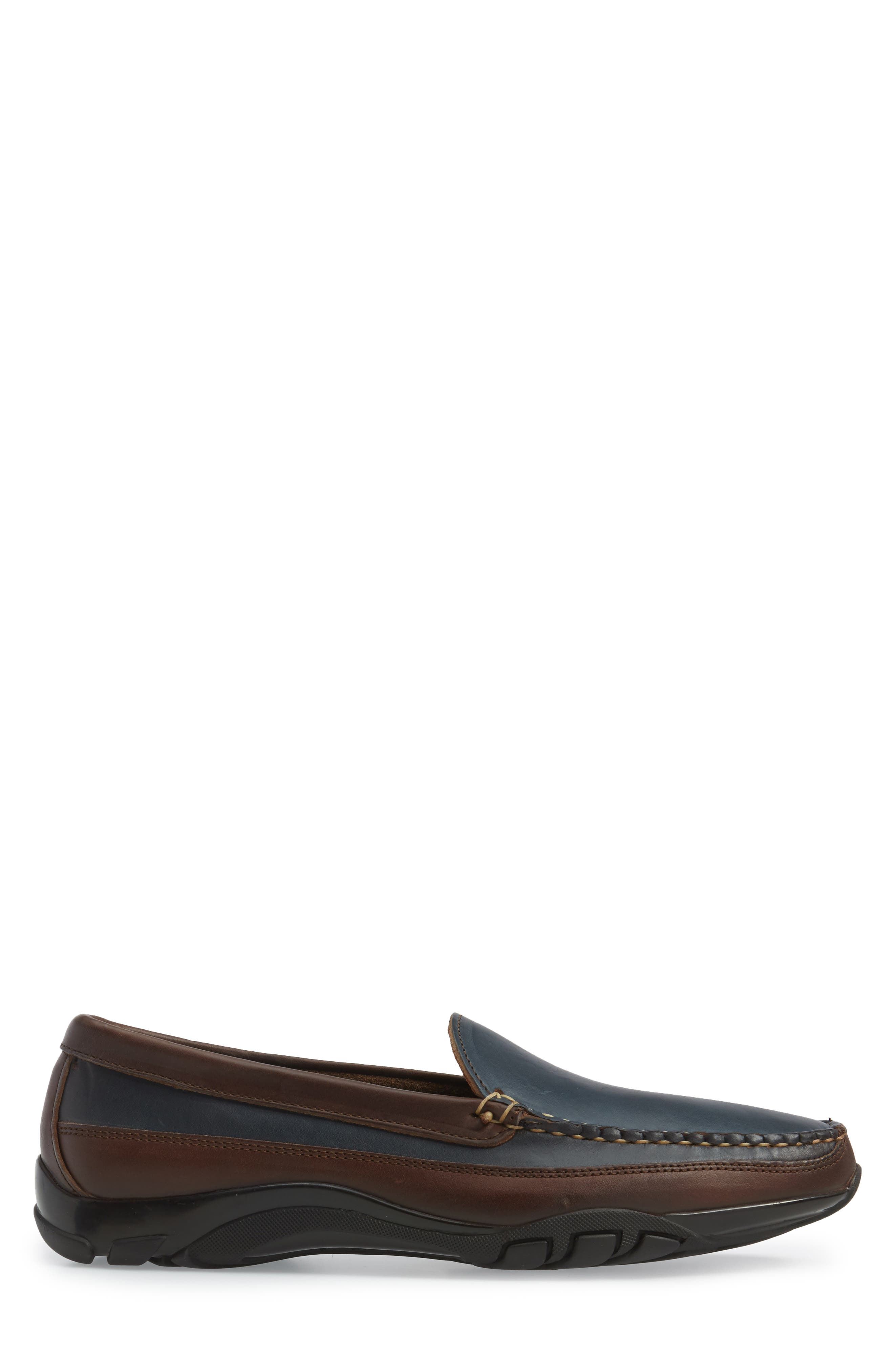 ALLEN EDMONDS, 'Boulder' Driving Loafer, Alternate thumbnail 3, color, NAVY/ BROWN