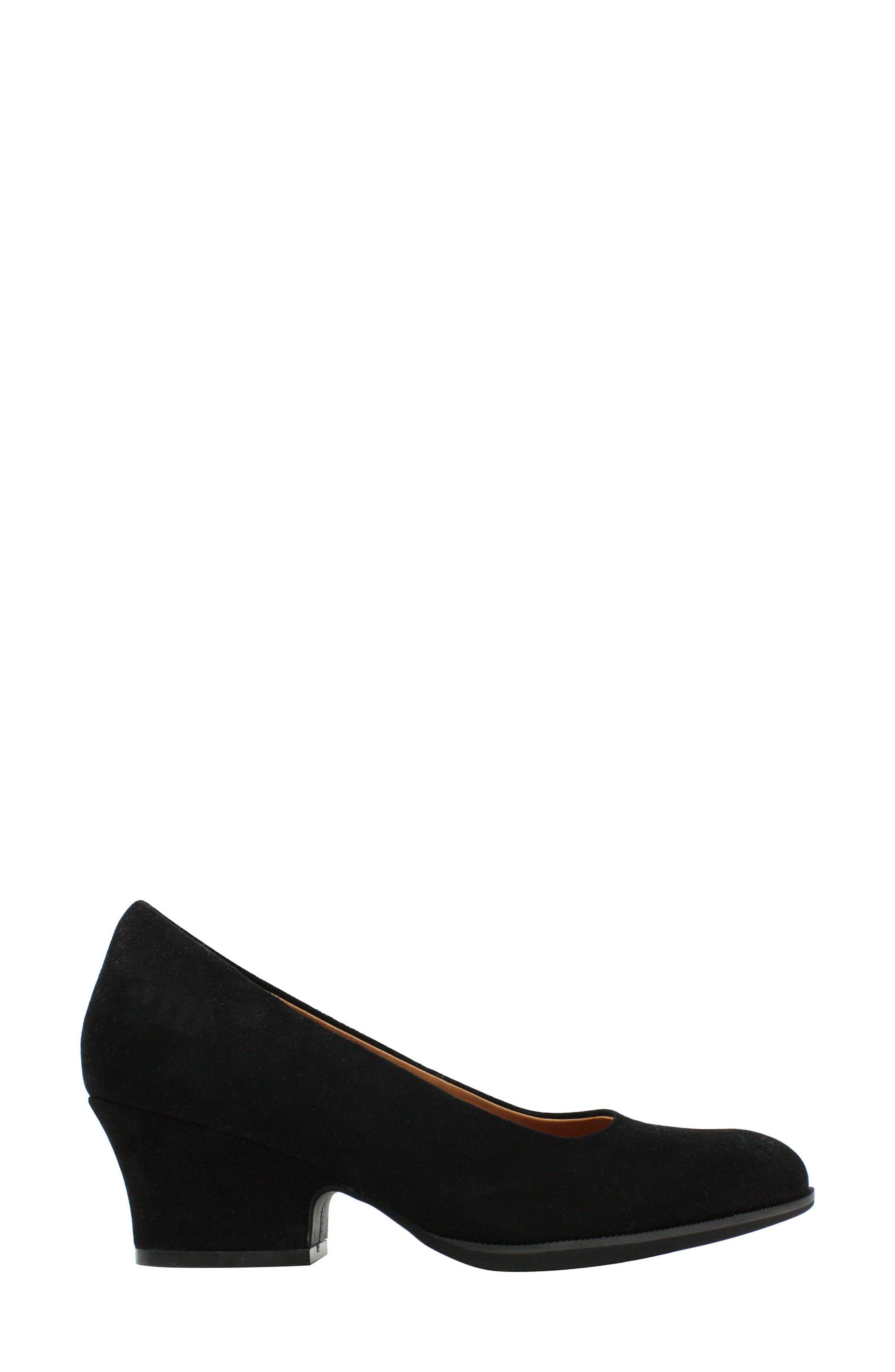 L'AMOUR DES PIEDS, Jolanda Pump, Alternate thumbnail 2, color, BLACK SUEDE