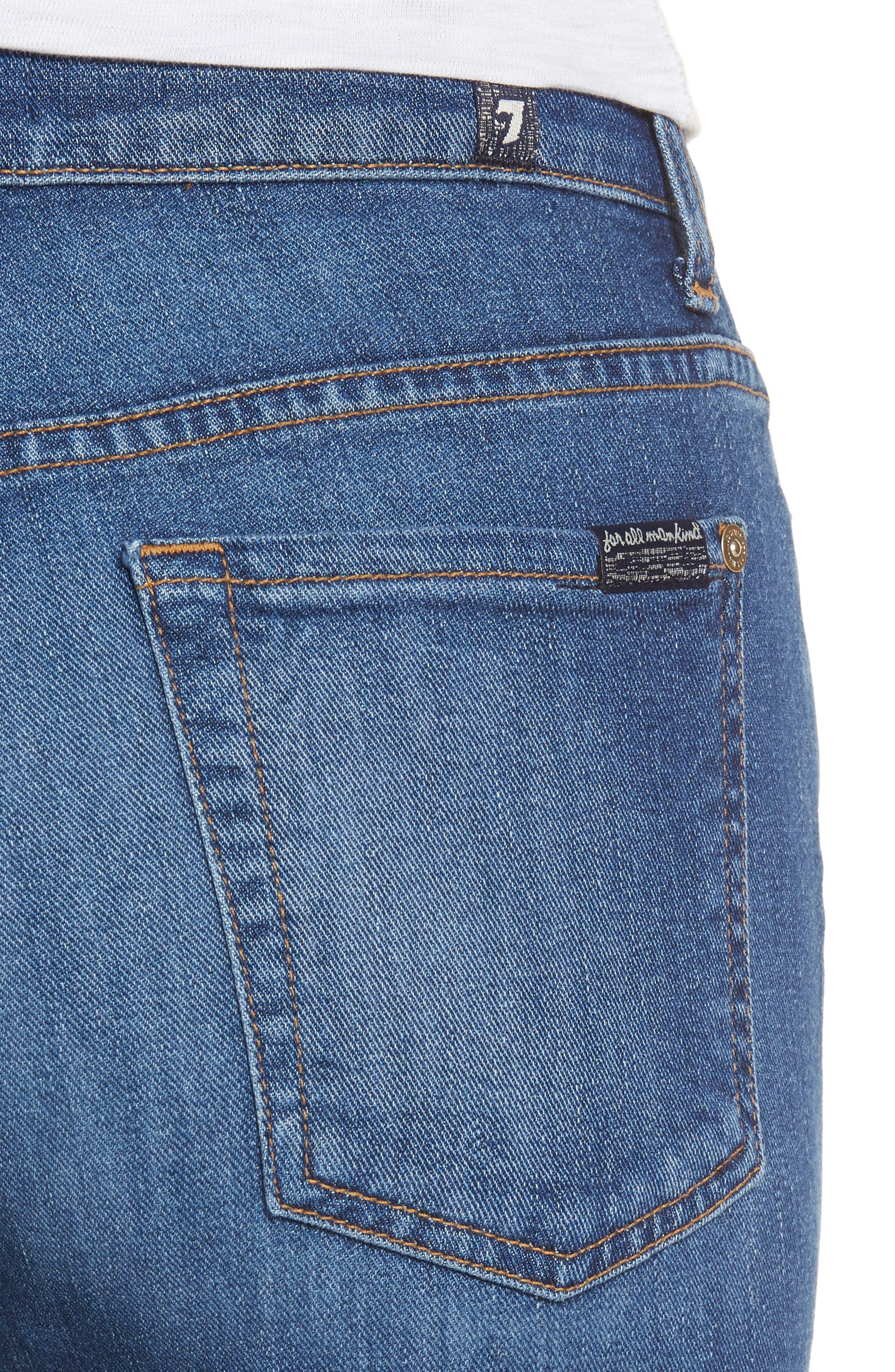 7 FOR ALL MANKIND<SUP>®</SUP>, Ali Split Hem Crop Flare Jeans, Alternate thumbnail 4, color, 401