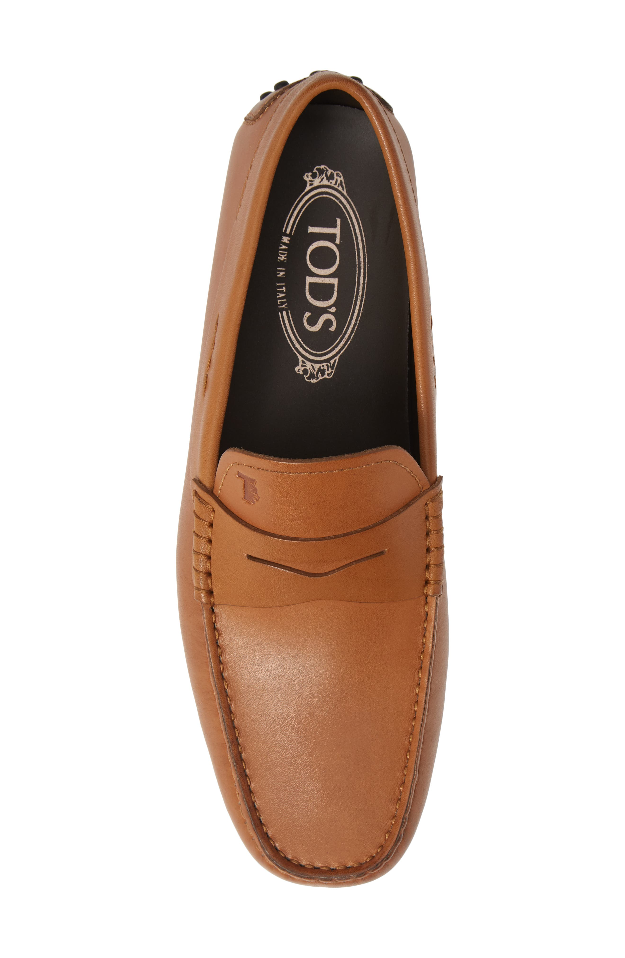 TOD'S, 'City' Penny Driving Shoe, Alternate thumbnail 5, color, BROWN/BROWN