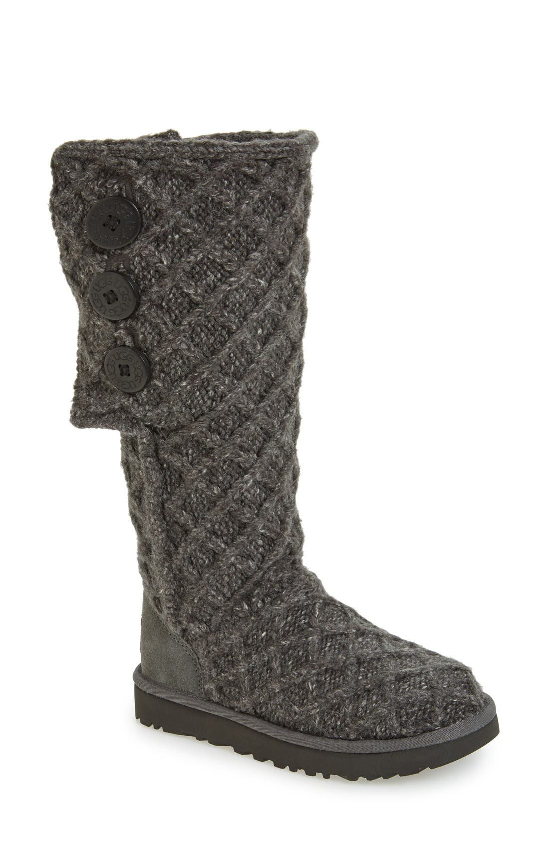UGG<SUP>®</SUP>, Lattice Cardy II Boot, Alternate thumbnail 5, color, 020