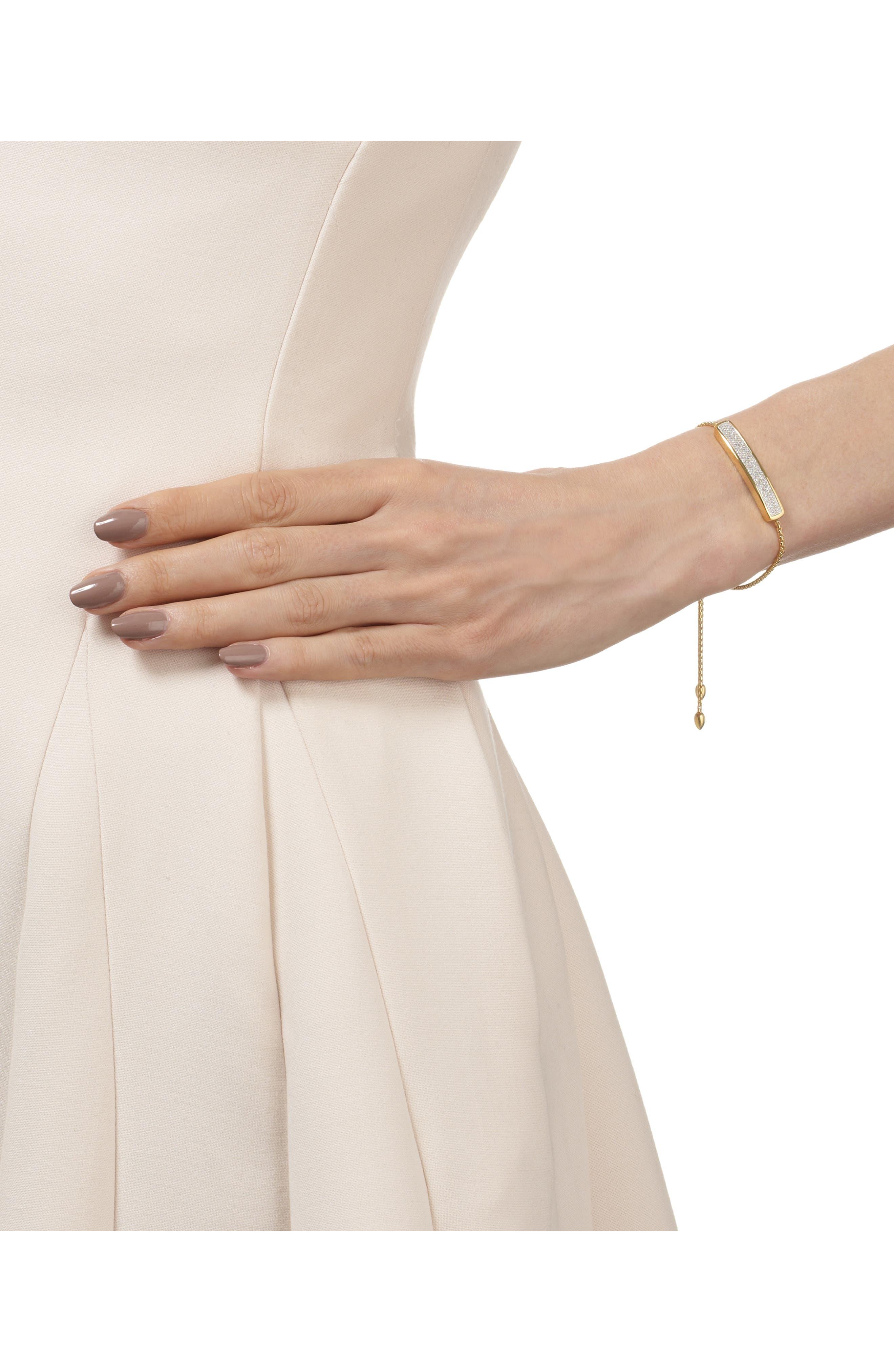 MONICA VINADER, Engravable Baja Diamond Bracelet, Alternate thumbnail 2, color, YELLOW GOLD/ DIAMOND